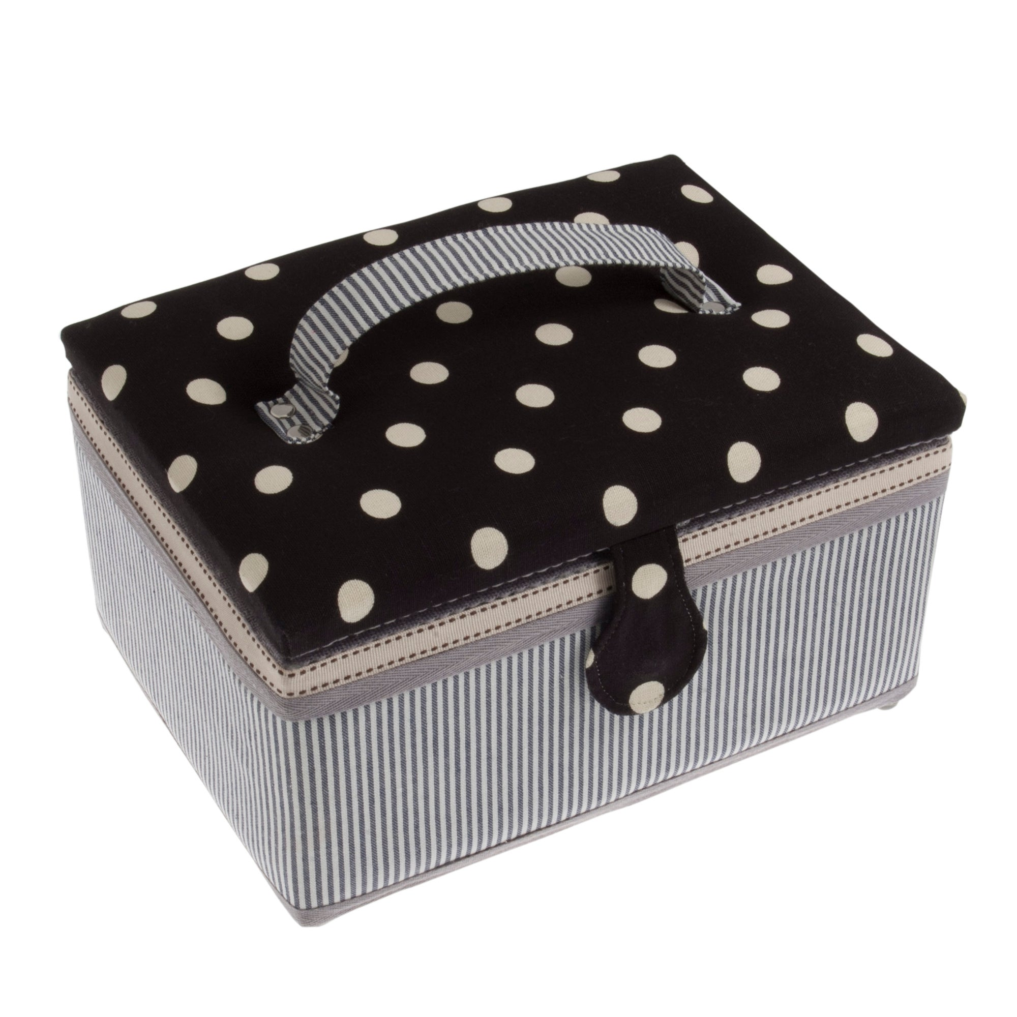 Photo of Dots and stripes sewing box black / white
