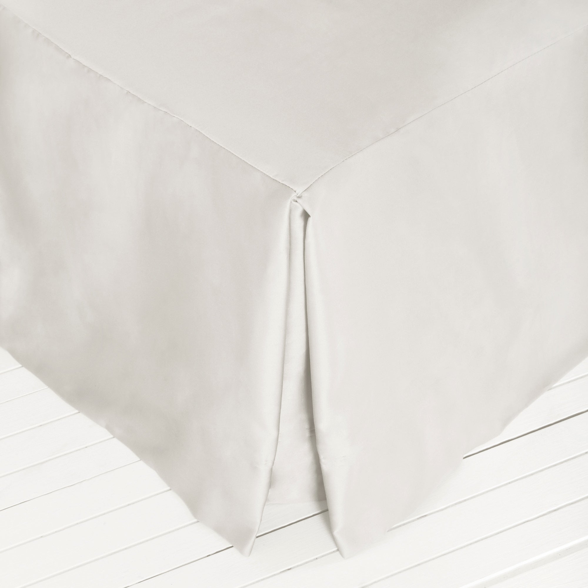 Image of Dorma 500 Thread Count Cotton Satin Porcelain Divan Valance Porcelain