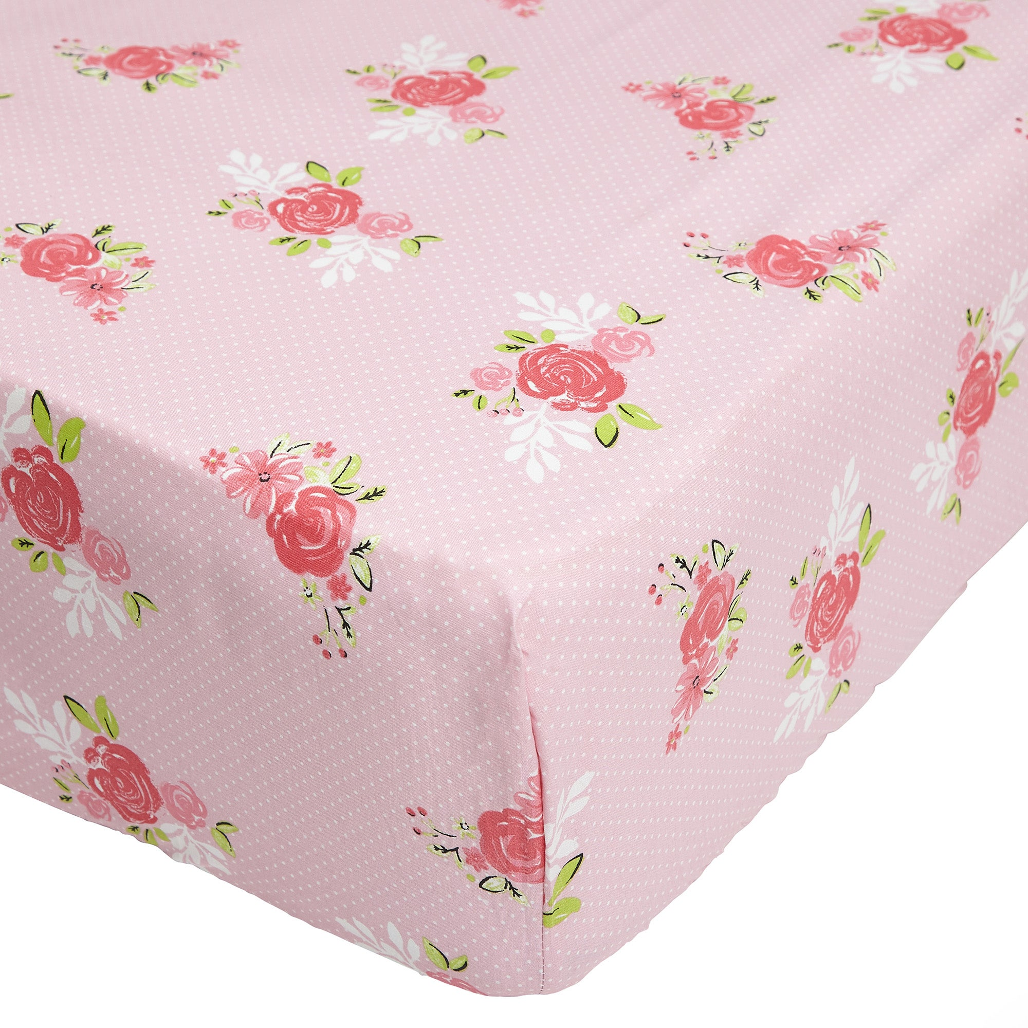 Image of Belle 25cm Fitted Sheet Pink