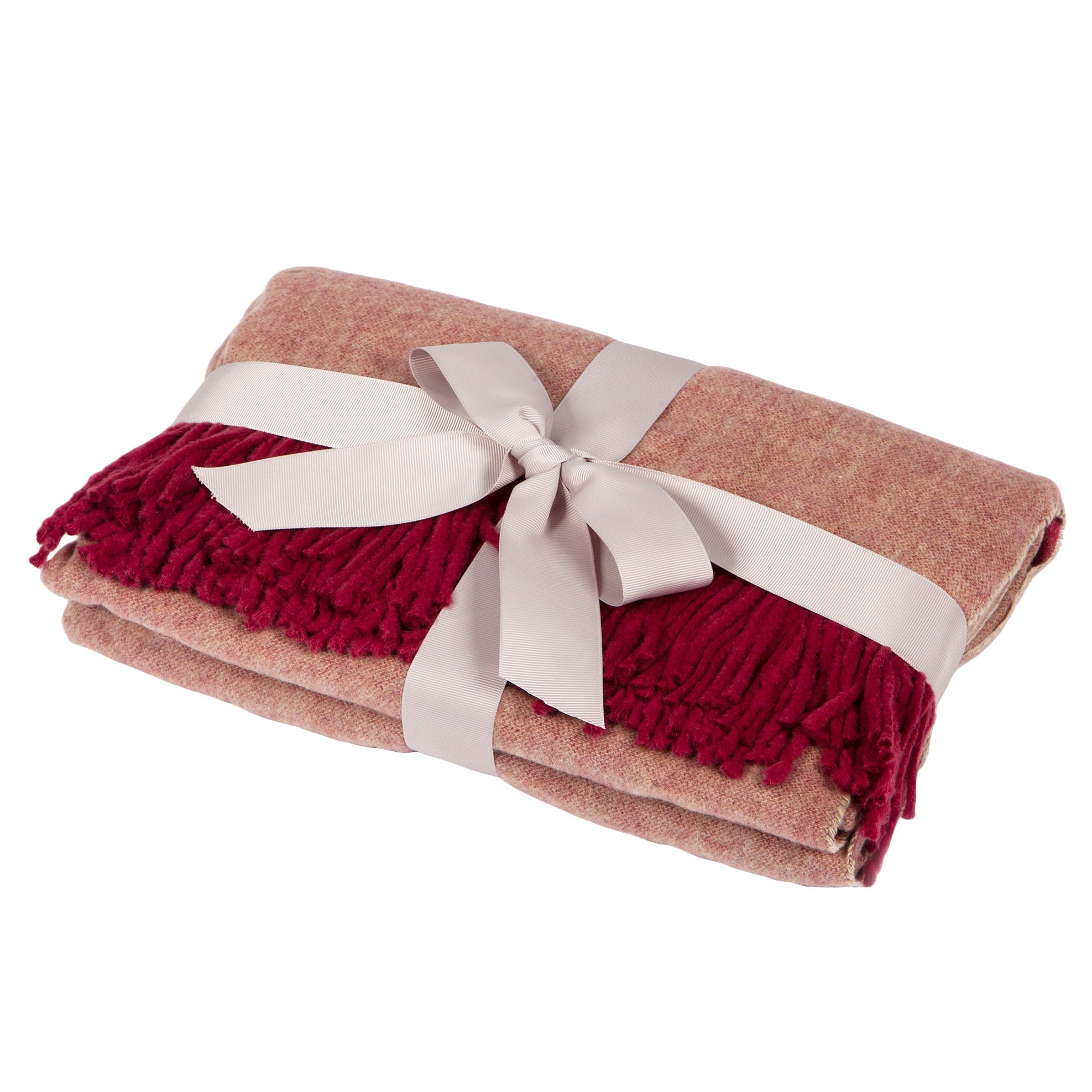 Photo of Plain woollen throw red