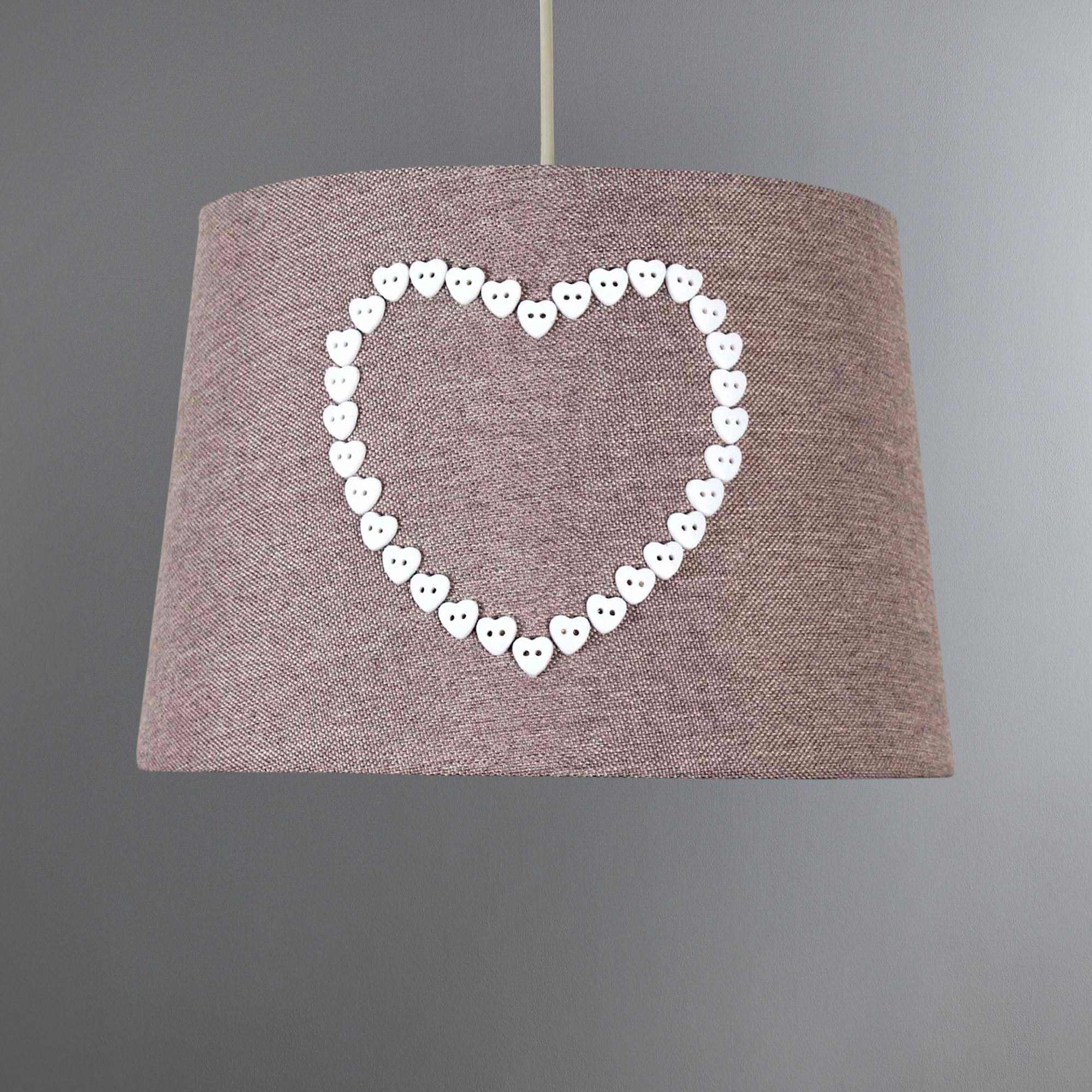 Photo of Amour heart button shade taupe