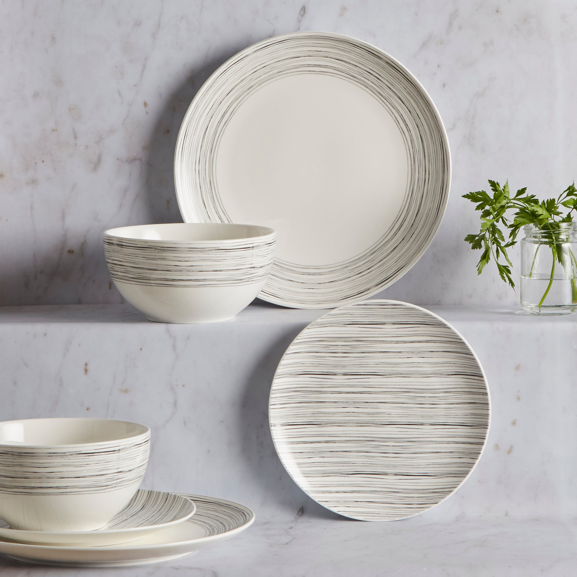 Image of Simplicity 12 Piece Dinner Set White