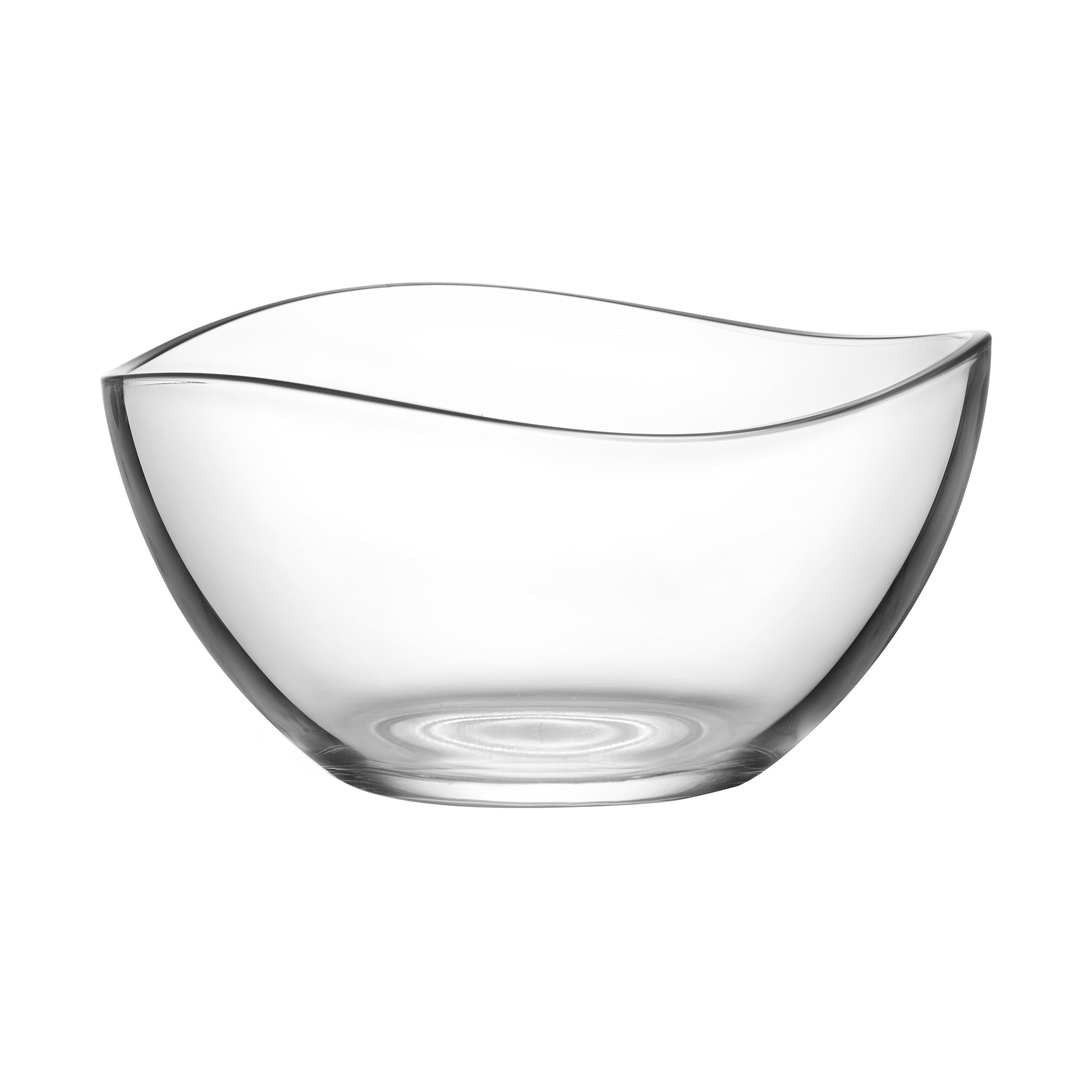 Wave Serving Bowl Clear