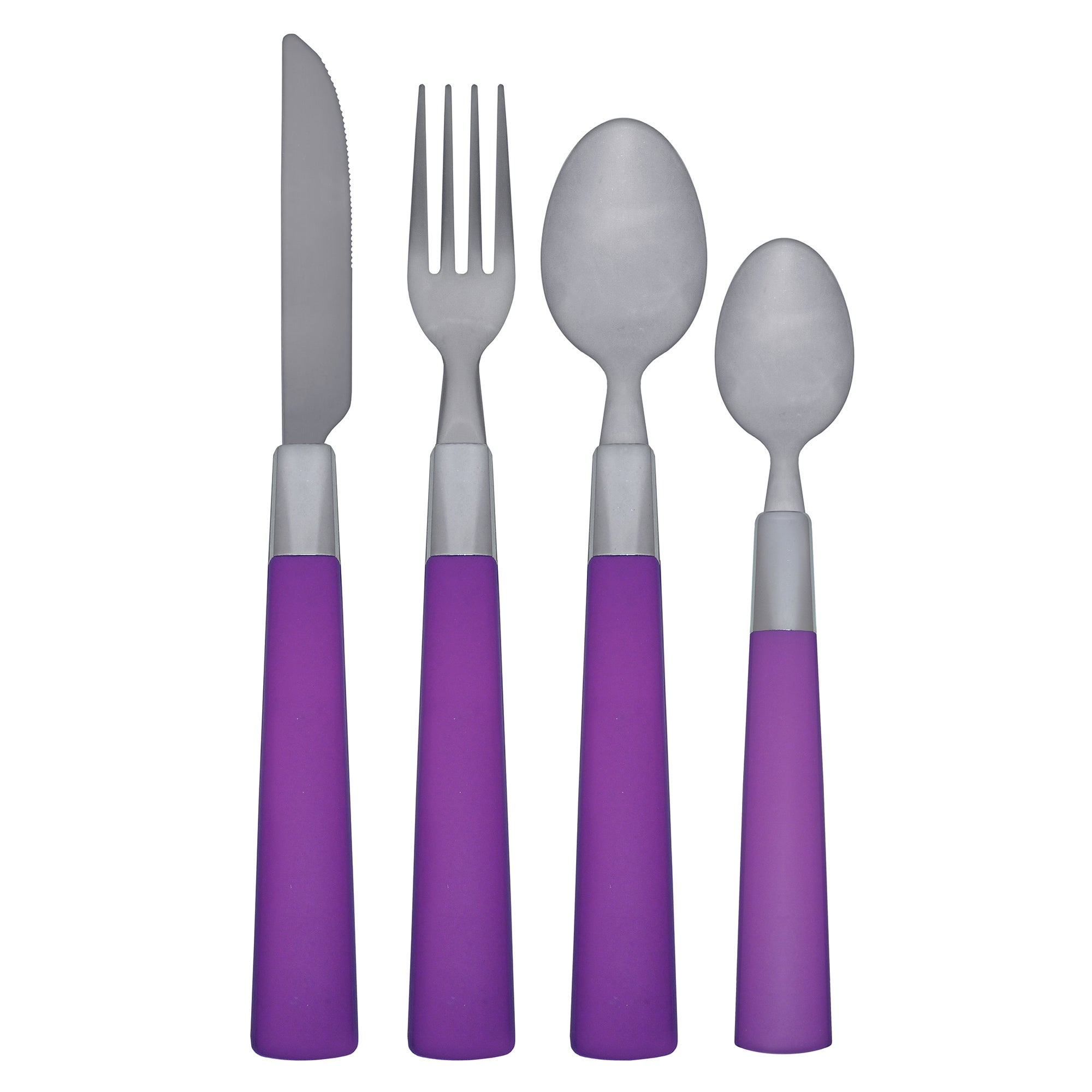 Image of Spectrum 16 Piece Cutlery Set Purple