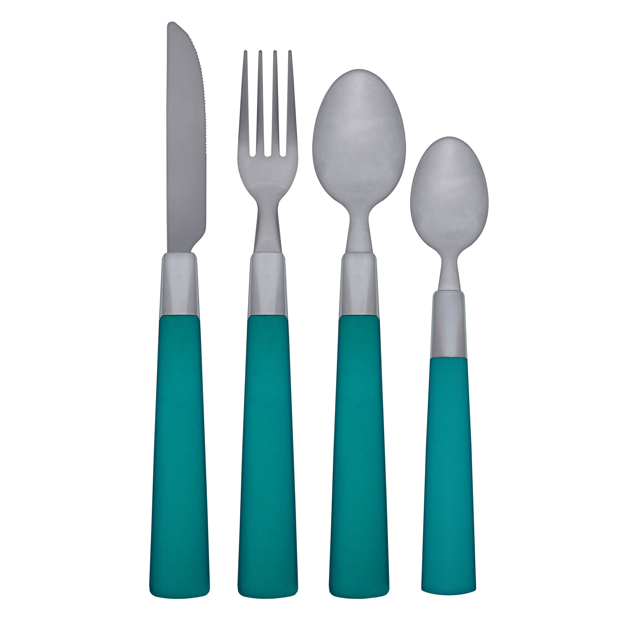 Image of Spectrum 16 Piece Cutlery Set Teal