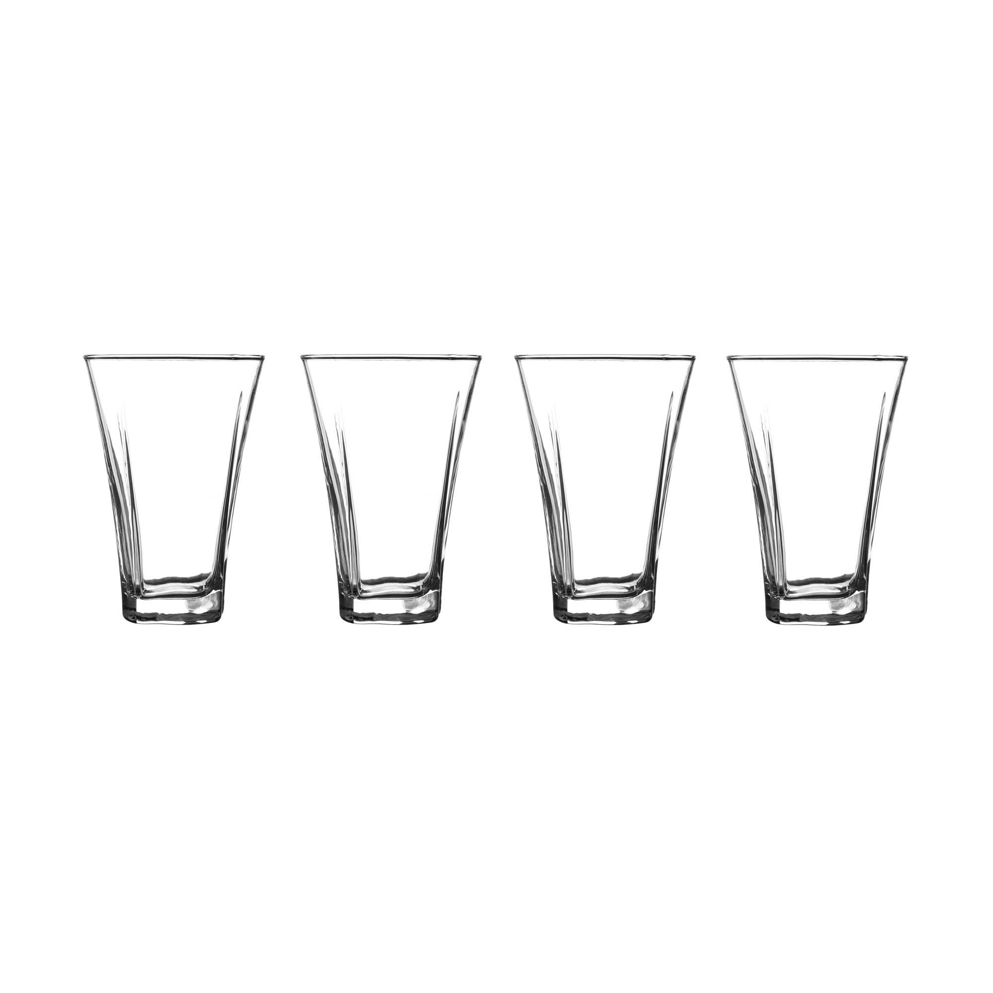 Image of Set of 4 Novara Flared Highball Glasses Clear