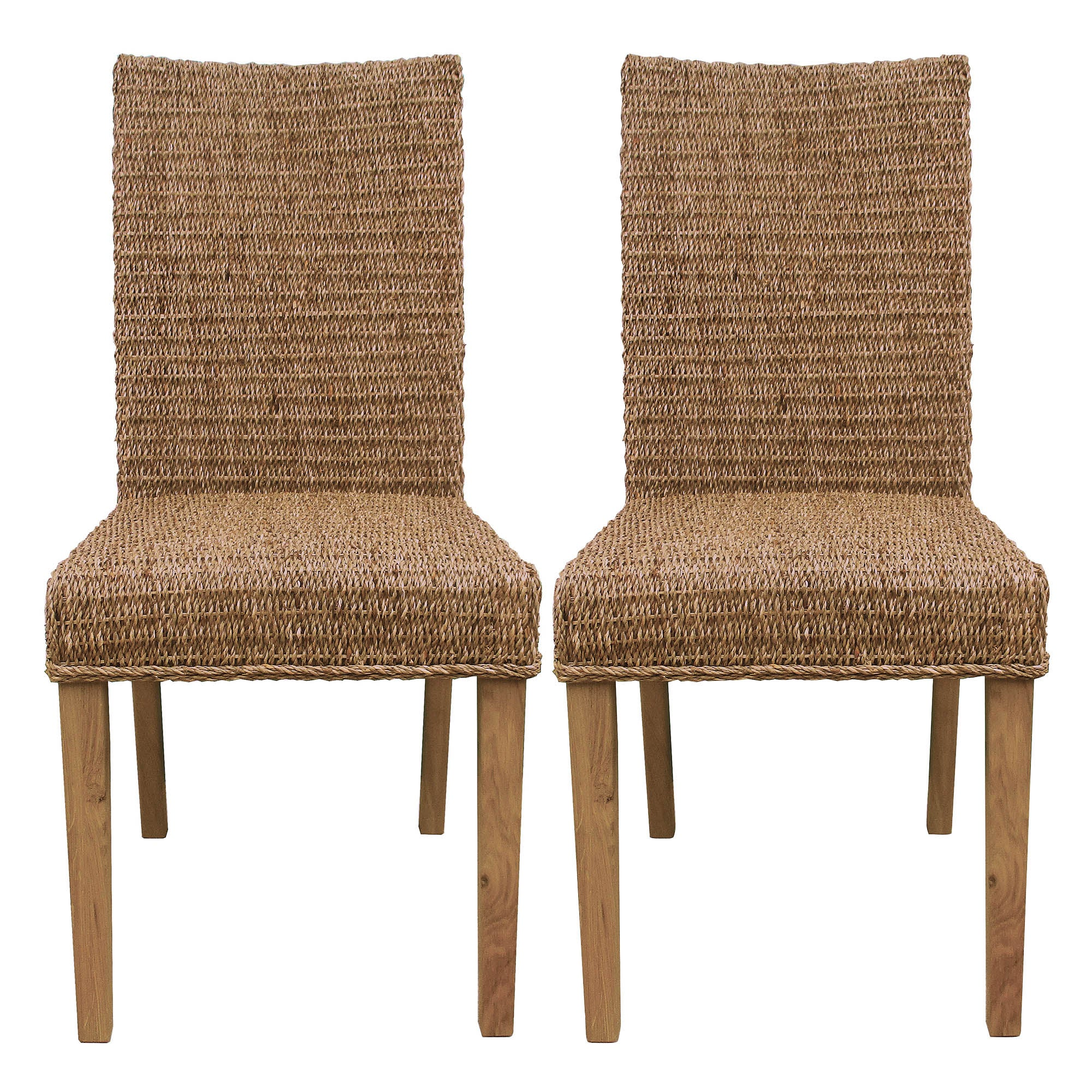 Photo of Sidmouth pair of dining chairs mid oak -brown-