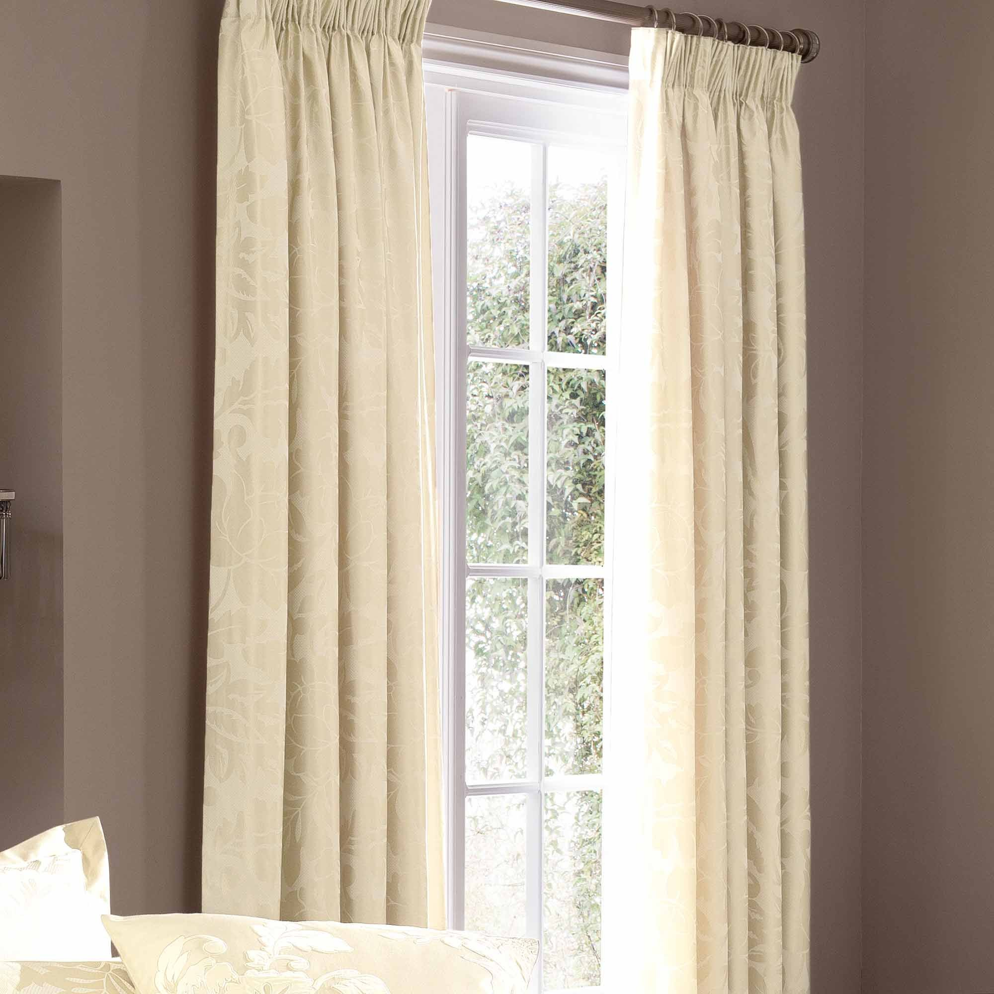 Photo of Dorma isabelle cream lined pencil pleat curtains cream