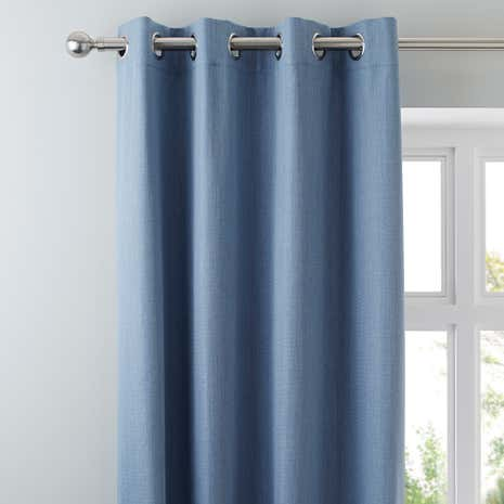 Solar Chambray Blackout Eyelet Curtains | Dunelm