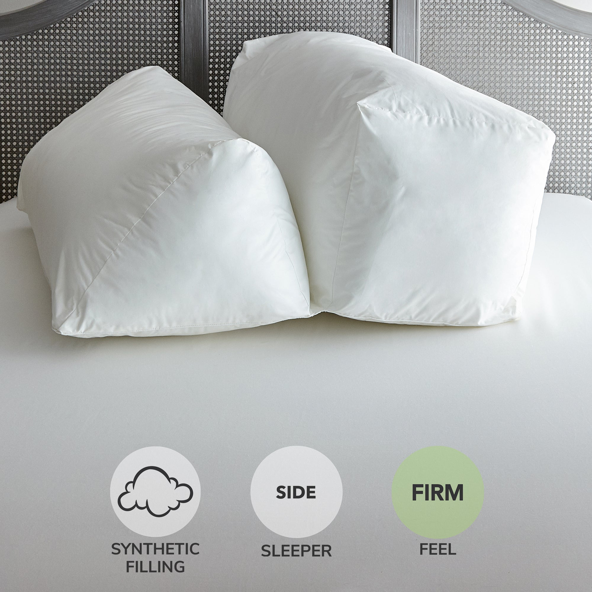 Image of Complete Firm-Support Pillow White