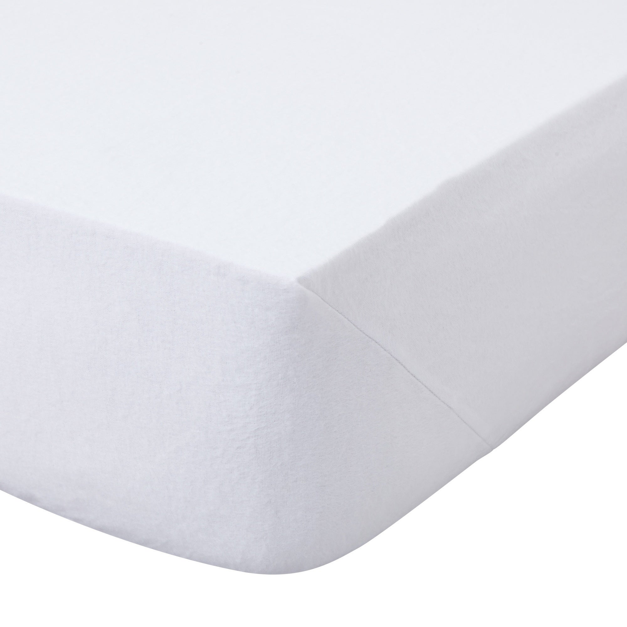 Image of 100% Brushed Cotton 25cm White Fitted Sheet White