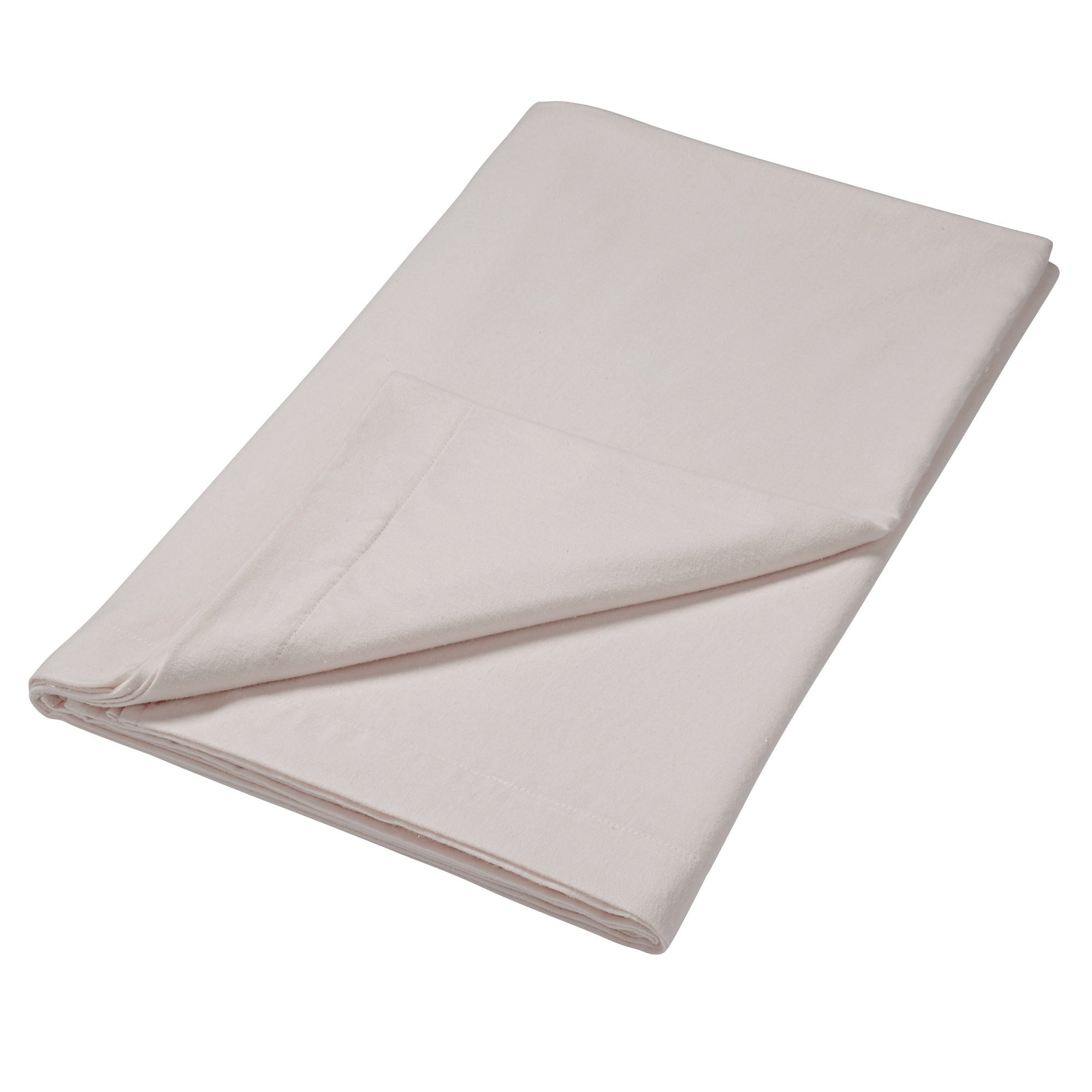 Image of 100% Brushed Cotton Silver Flat Sheet Silver