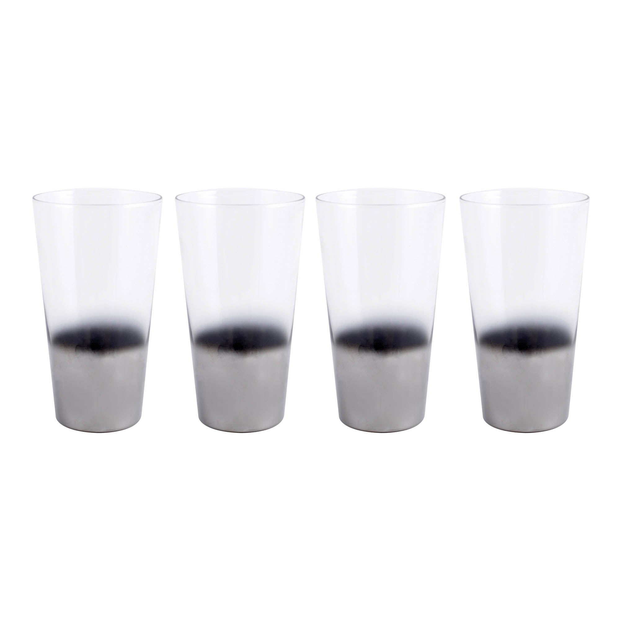 Image of 4 Pack Hotel Ombre Highballs Silver