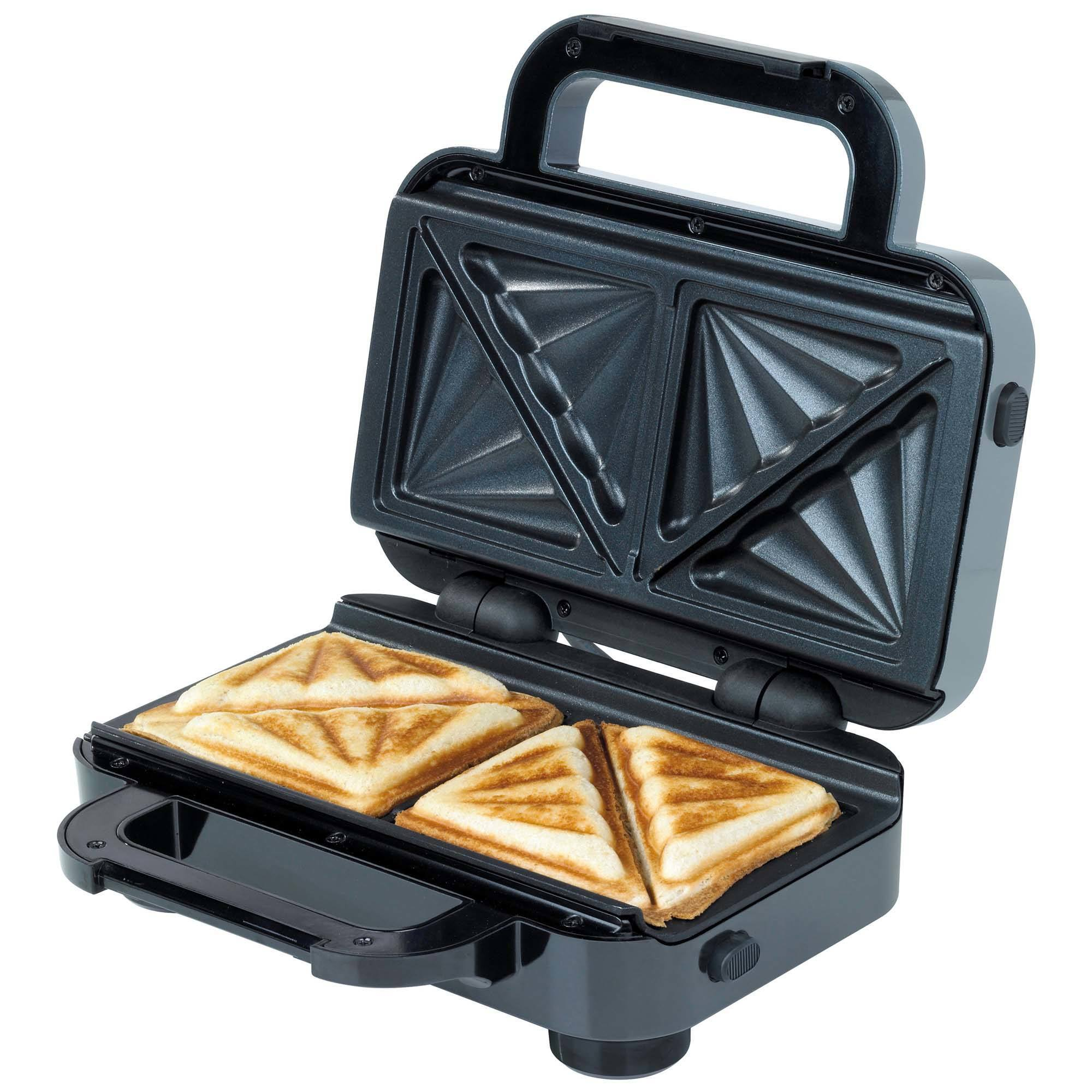 Breville 850w 2 Slice Toasted Sandwich Maker Black