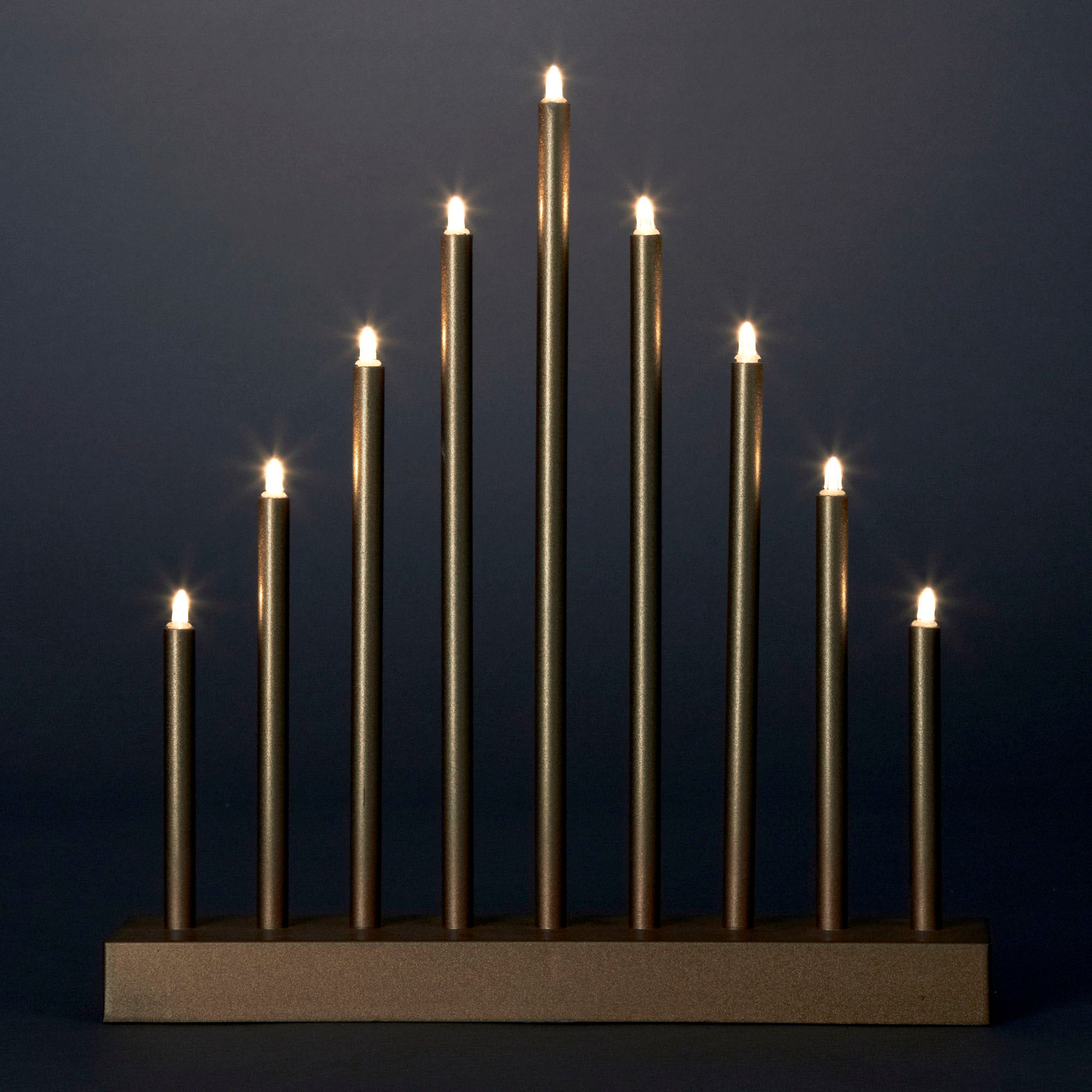 Christmas Tiered Spike Candle LED Light Gold