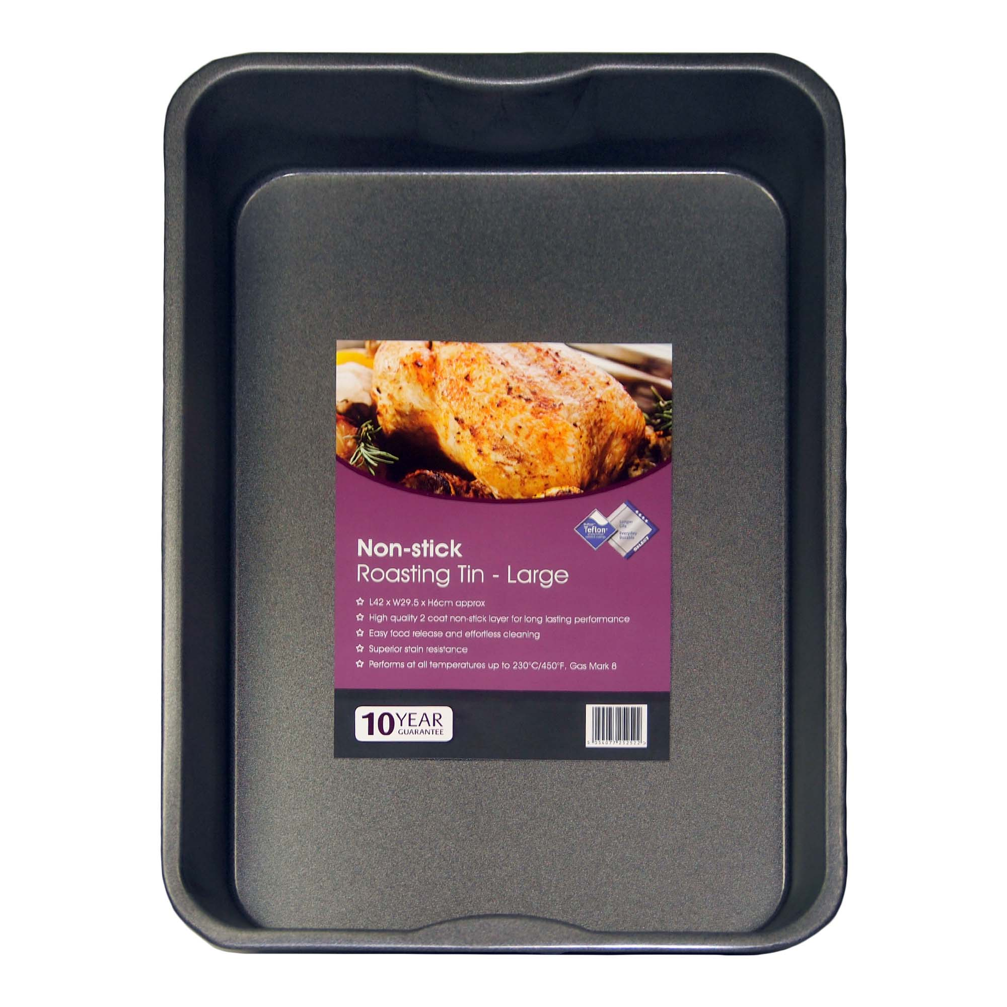 Photo of Dunelm non-stick large roaster tin grey