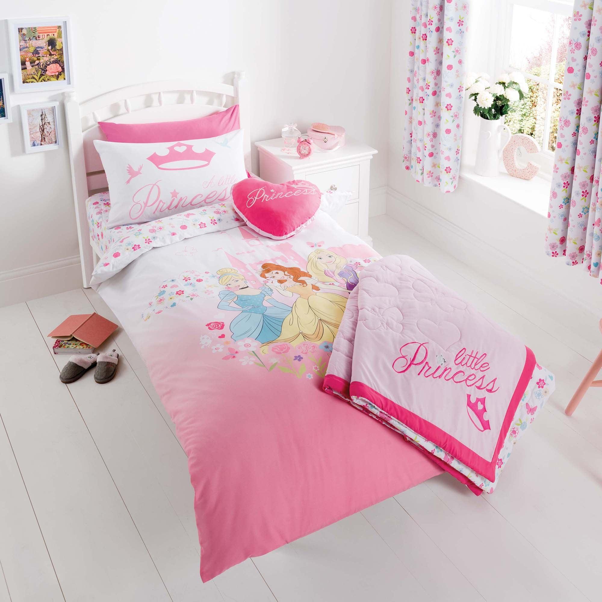Disney Princess Duvet Cover Set Pink  Blue