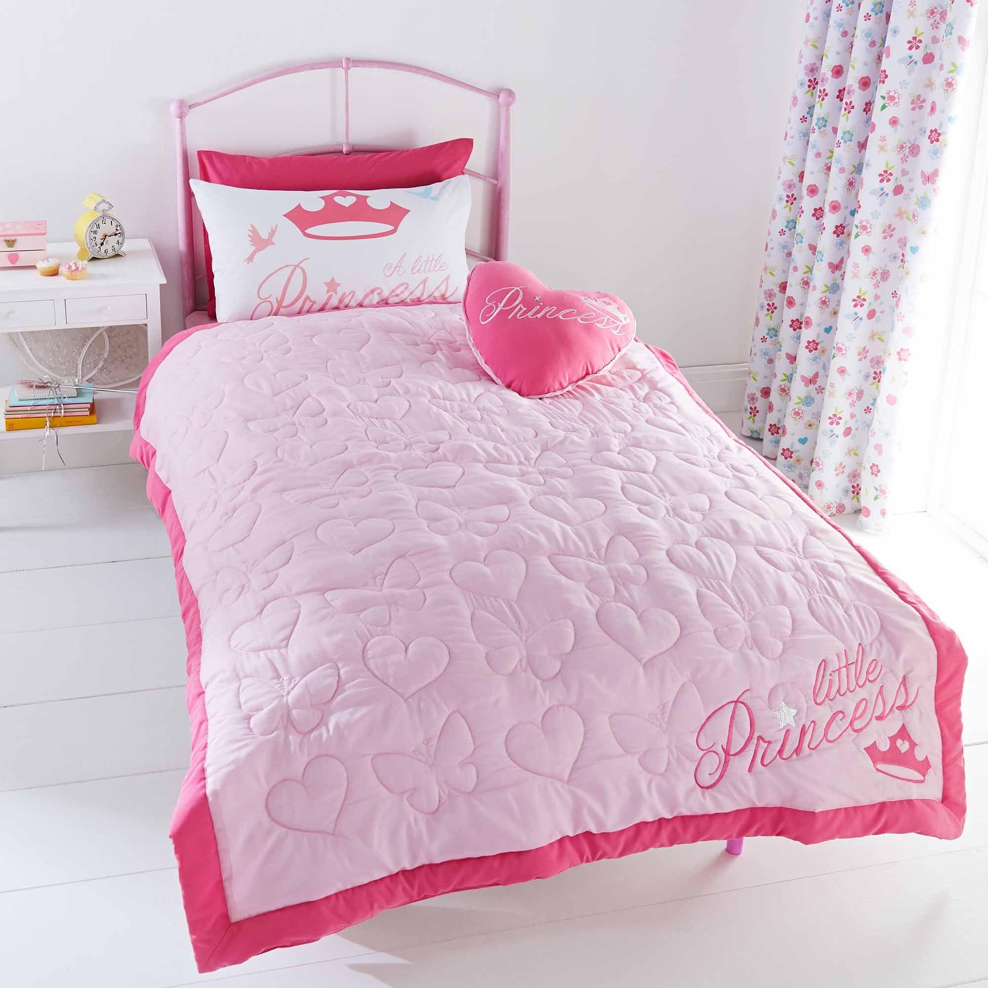 Disney Princess Bedspread Pink  White