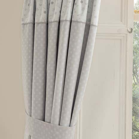 Grey nursery curtains uk thenurseries for Curtain fabric for baby nursery