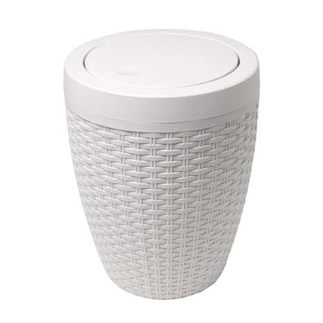 White Bathroom Bin addis rattan natural bath bin | dunelm