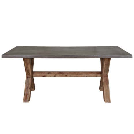 Harvey Acacia Dining Table With Concrete Top