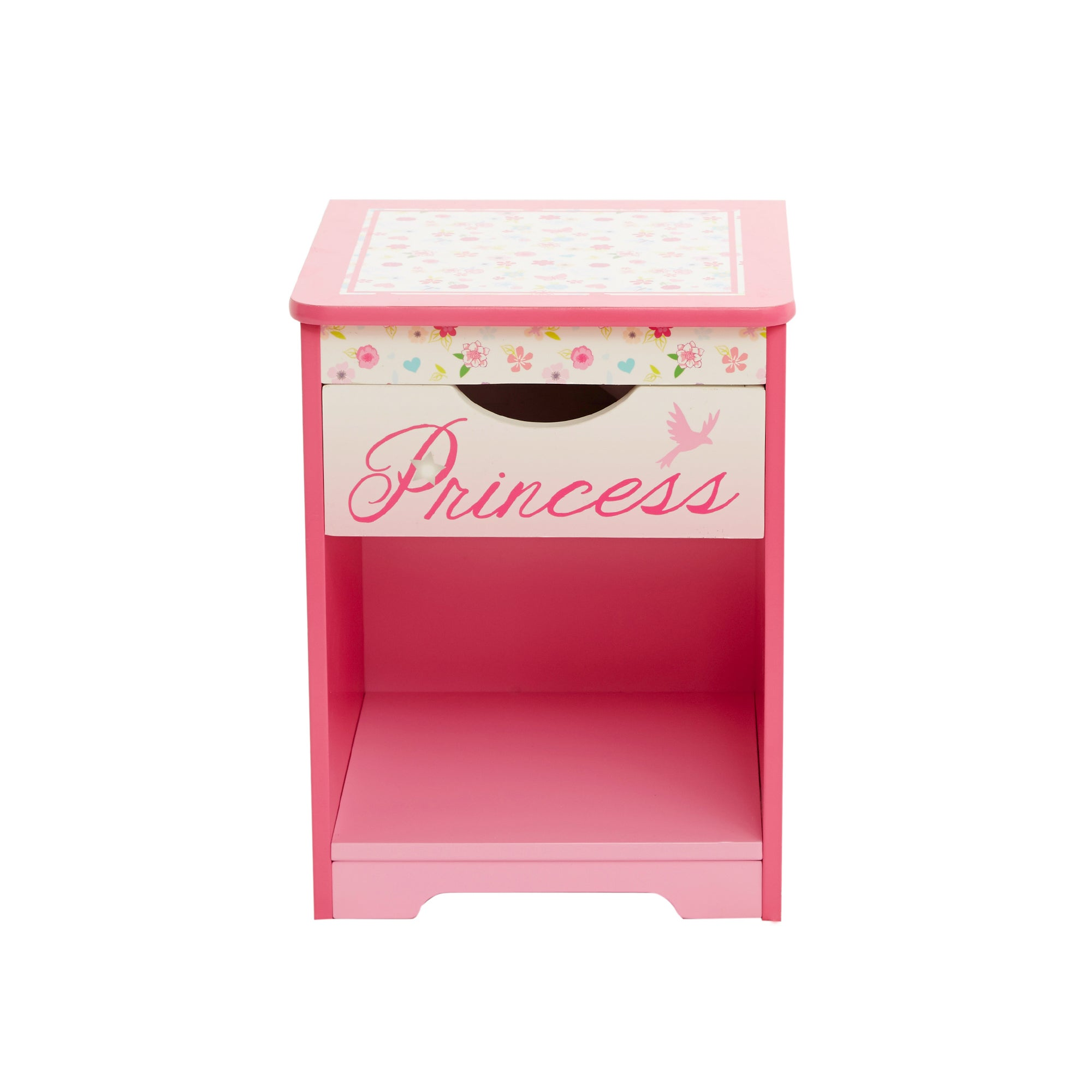 Photo of Disney princess bedside table pink
