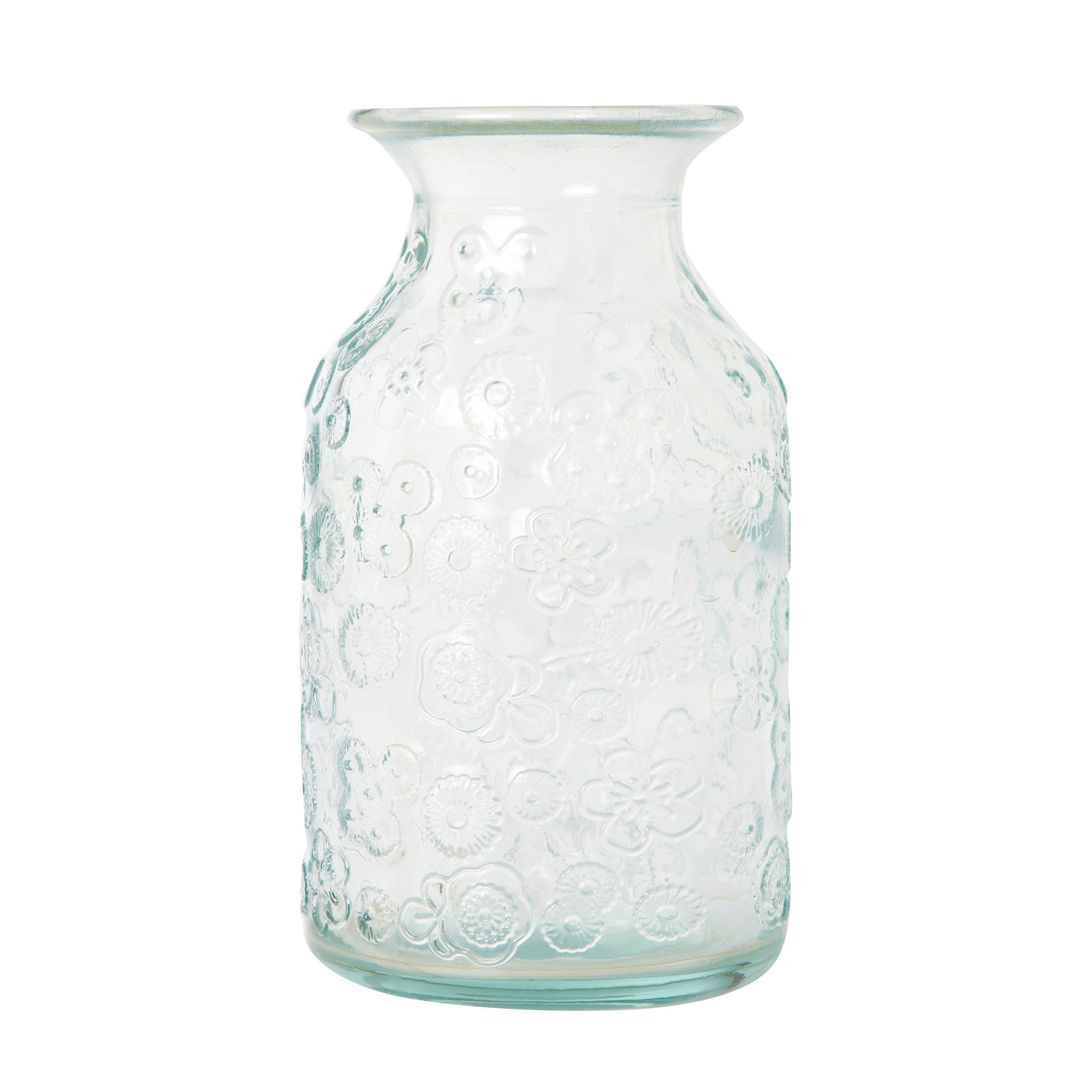 Photo of Glass embossed bud vase clear