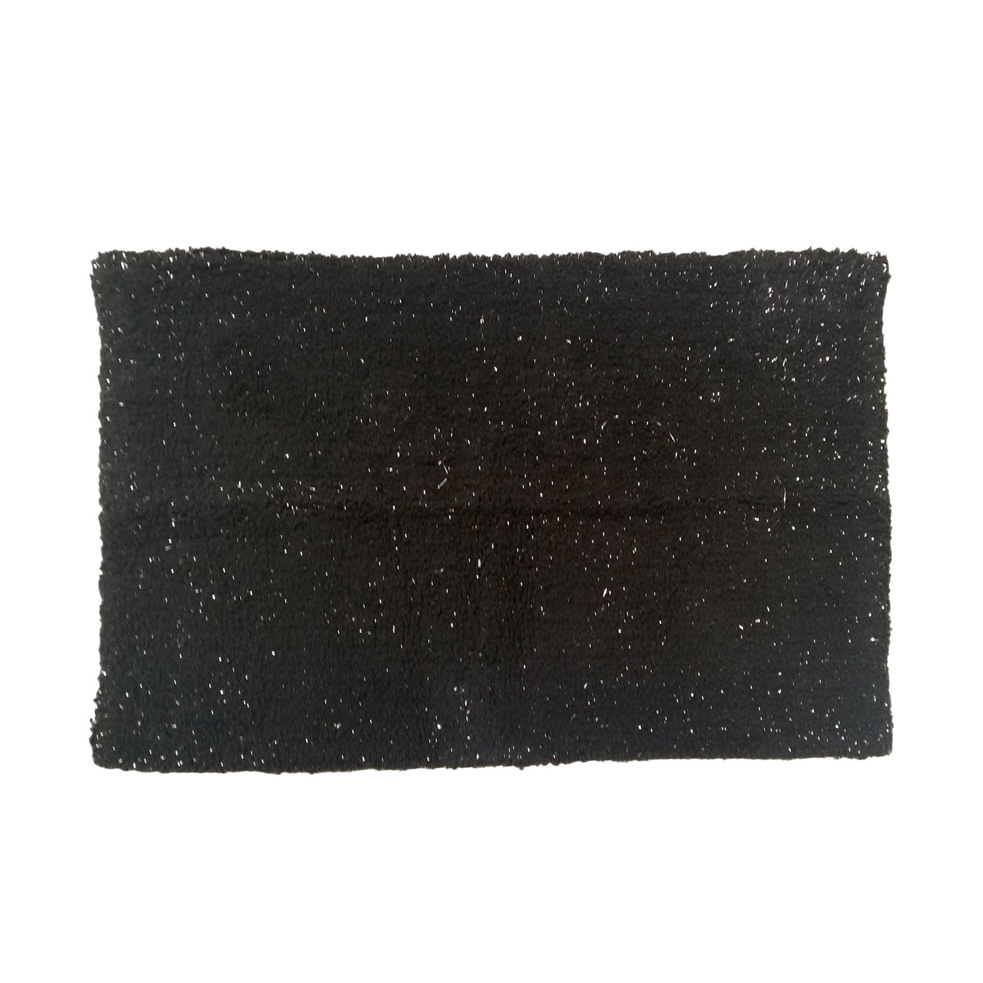Photo of Black and silver bath mat black