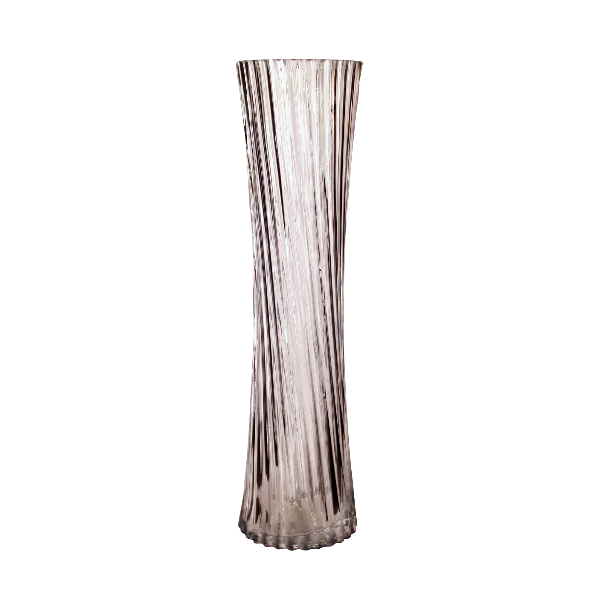 Photo of Glass ribbed vase clear
