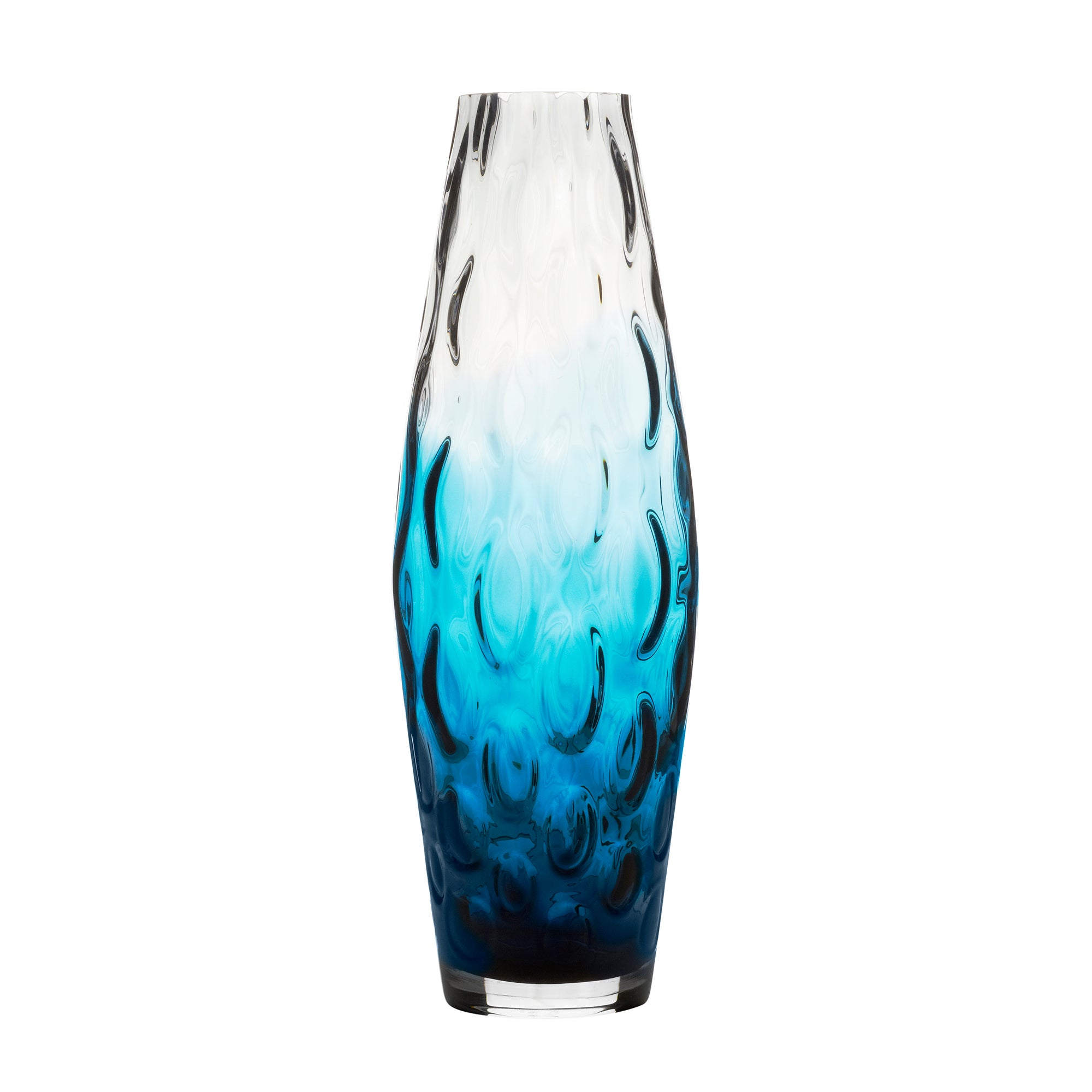 Photo of Hotel blue ombre optic vase blue