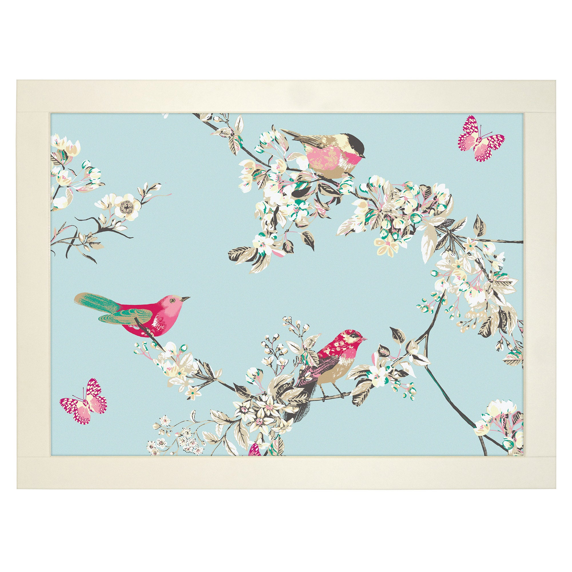 Beautiful Birds Lap Tray Duck Egg Blue