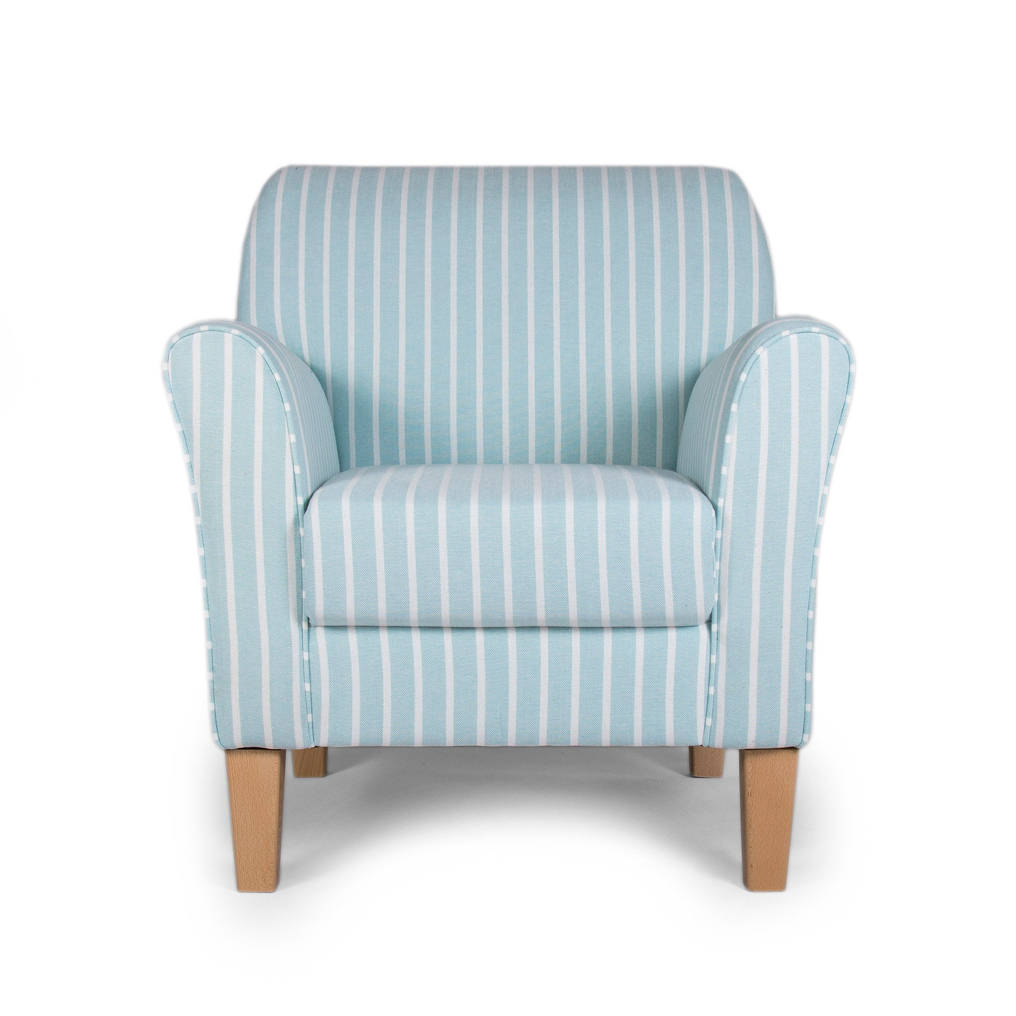 Photo of Hampton stripe duck egg lucielle armchair duck egg -blue-