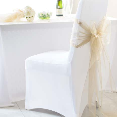White Pack Of 2 Stretch Chair Covers