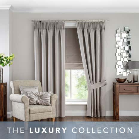 White Curtains black out white curtains : Hotel Venice Oyster Pencil Pleat Black Out Curtains | Dunelm