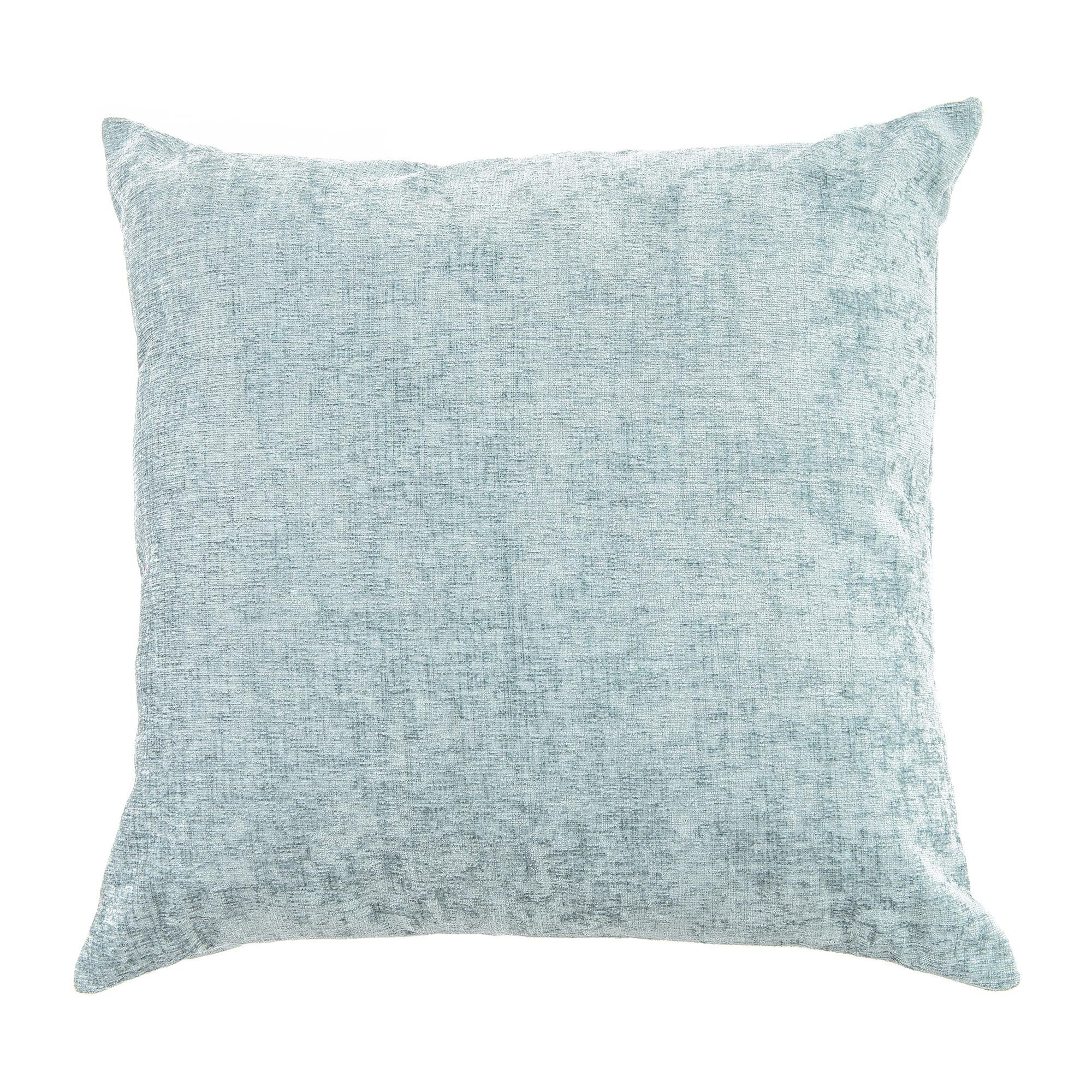 Large Chenille Cushion Duck Egg Blue