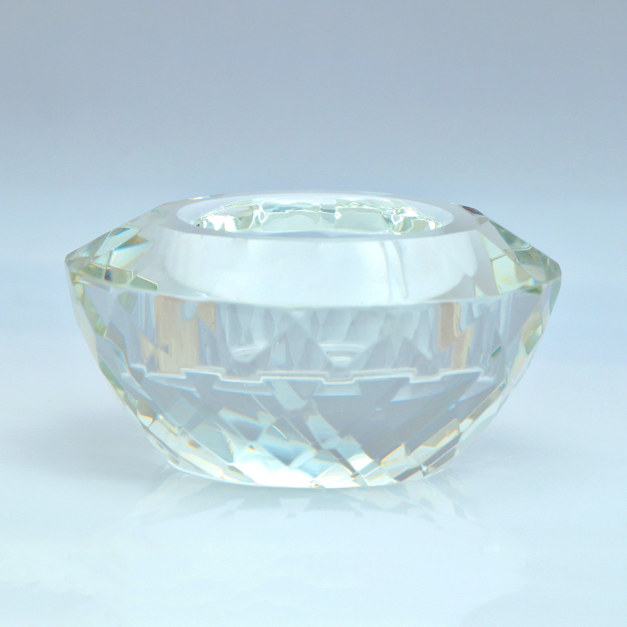 Photo of Dorma cut glass tealight holder clear