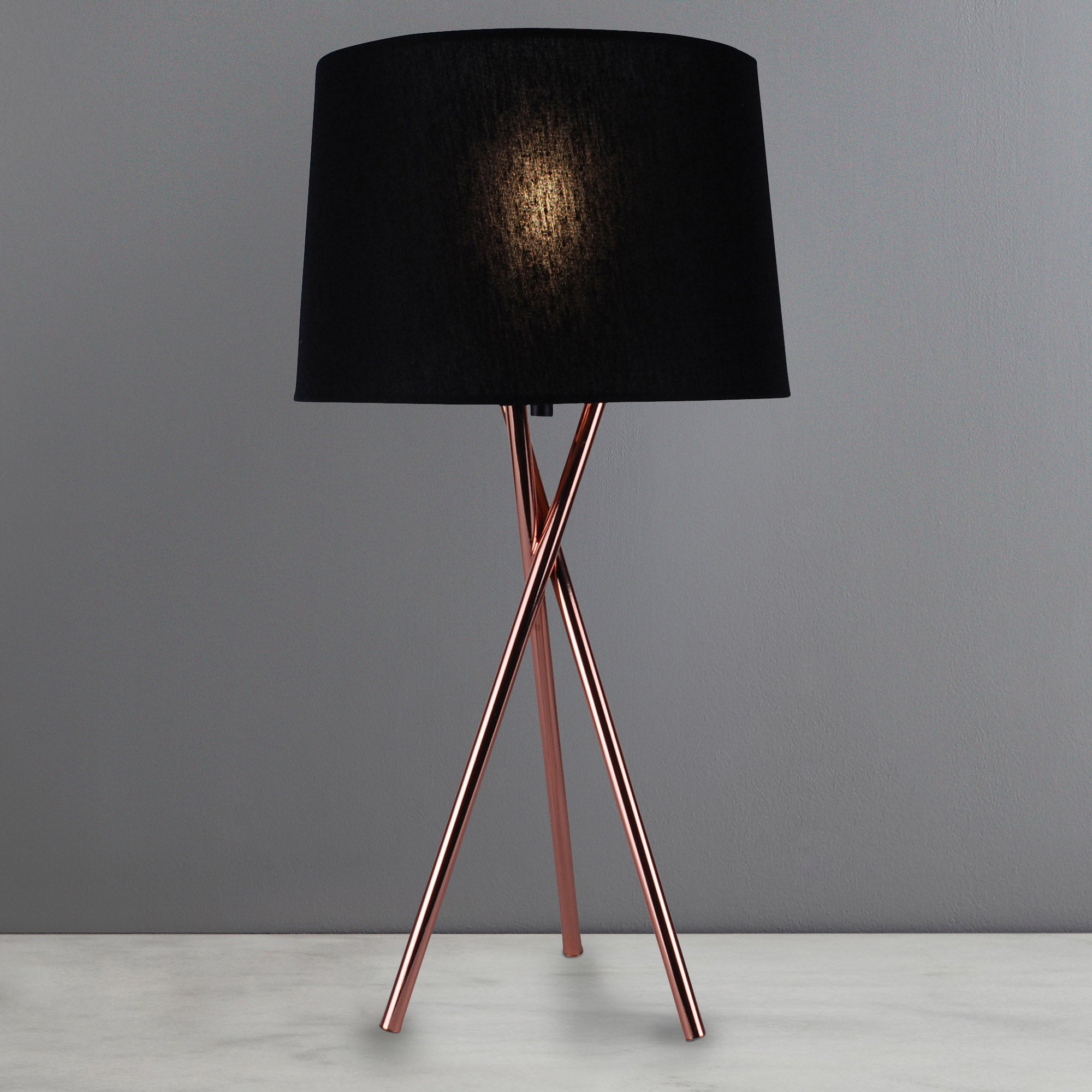 Photo of Albert tripod table lamp copper brown