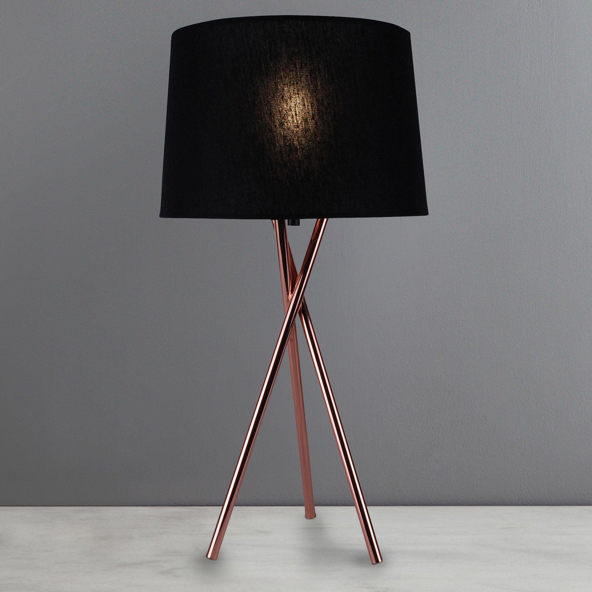 Albert Tripod Table Lamp Copper Brown