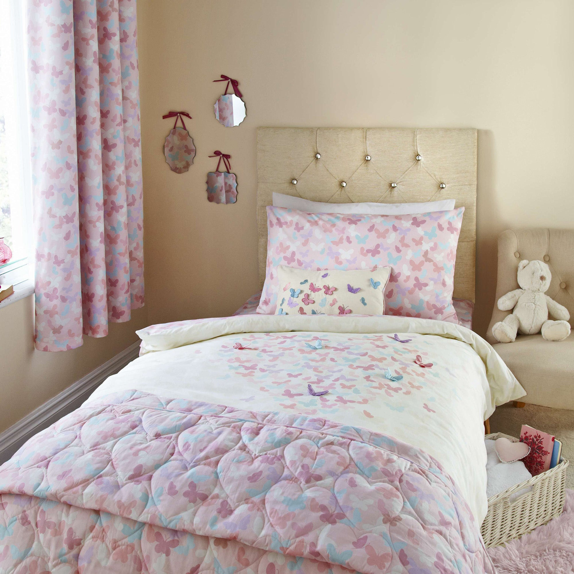 Photo of Maisie heart pink duvet cover set pink