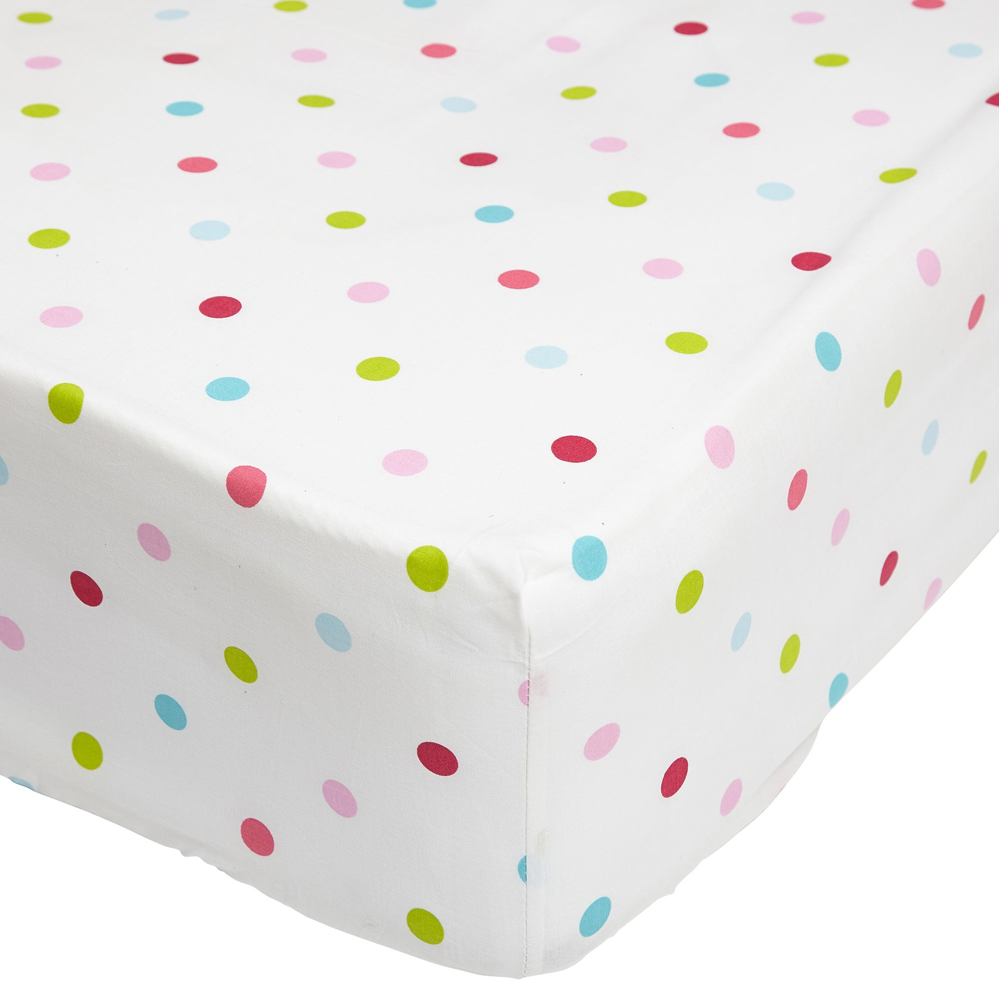 Image of Amelia Check Multi Coloured 25cm Fitted Sheet White