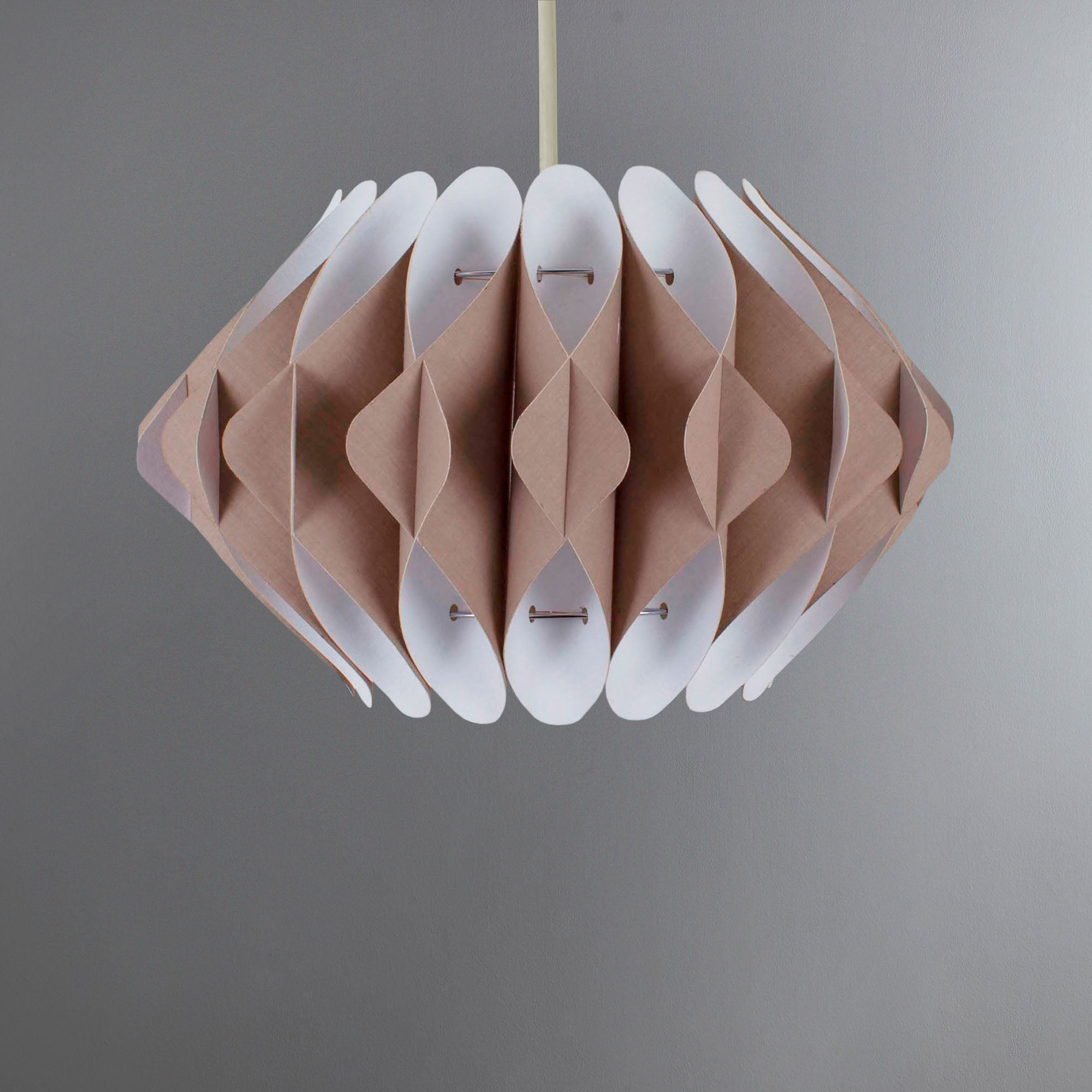 Photo of Carter origami light shade taupe
