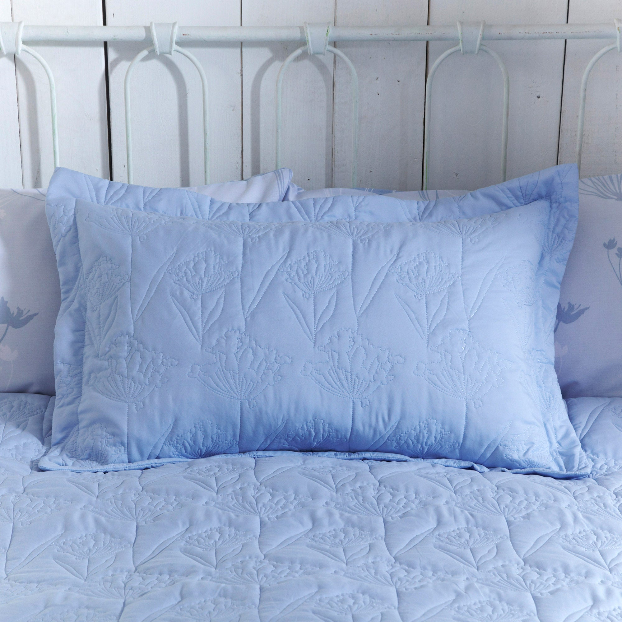 Image of Bryony Blue Pillow Sham Blue