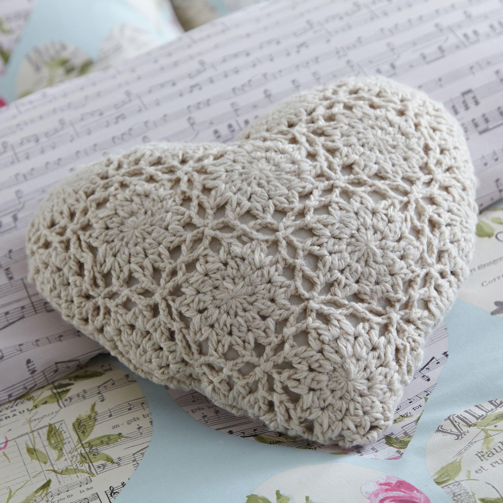 Melody Heart Cushion Grey