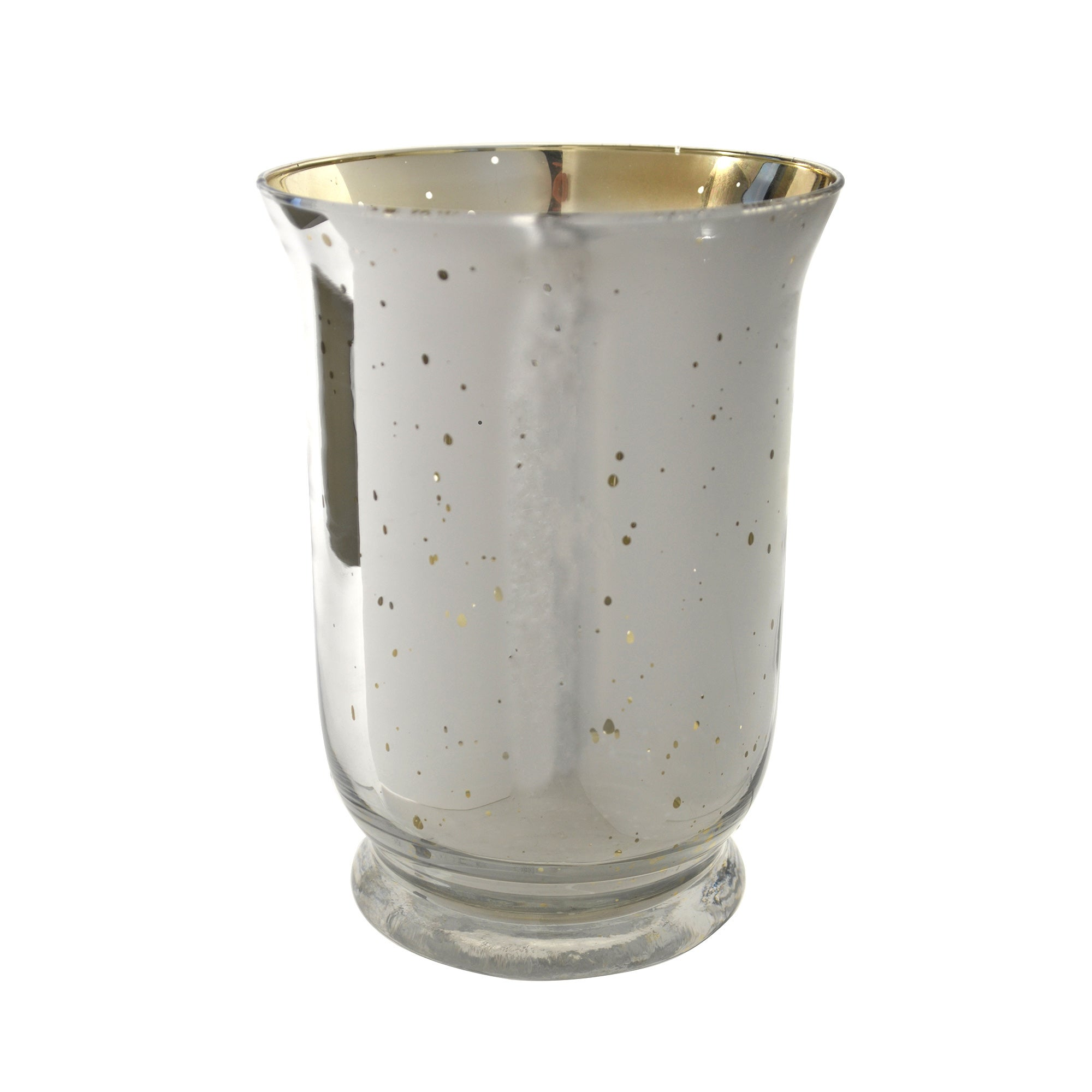 Photo of Mercury glass hurricane vase champagne brown