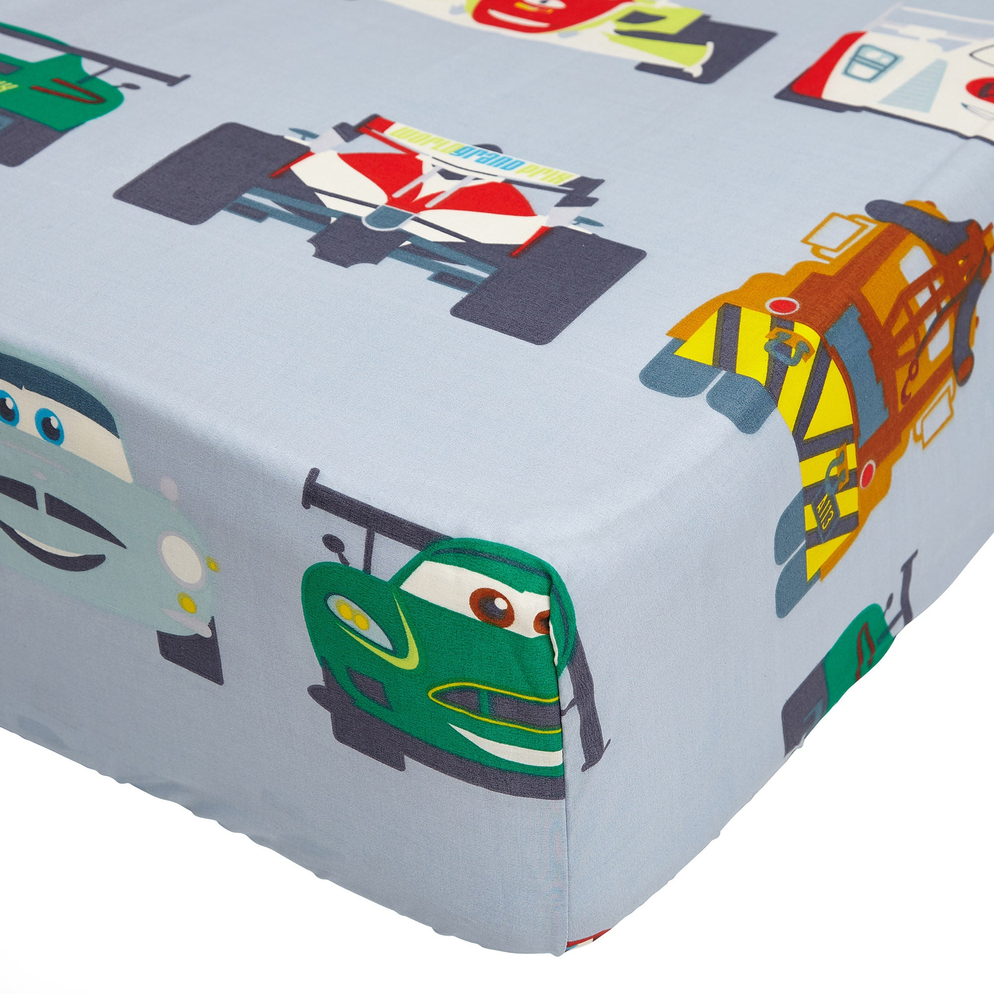 Image of Disney Cars Blue 25cm Fitted Sheet Blue