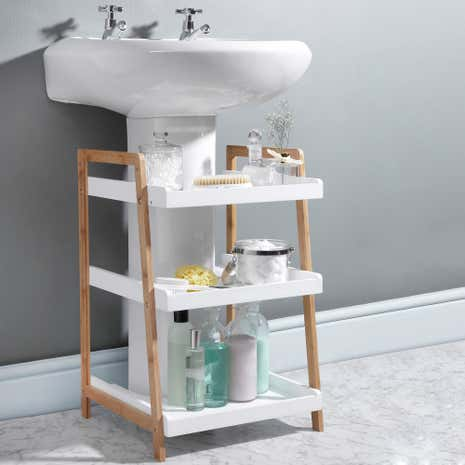 Bamboo Freestanding Anizing Shelf Only At 69 95. Freestanding Bathroom Storage Caddy Bamboo   Bathroom Ideas
