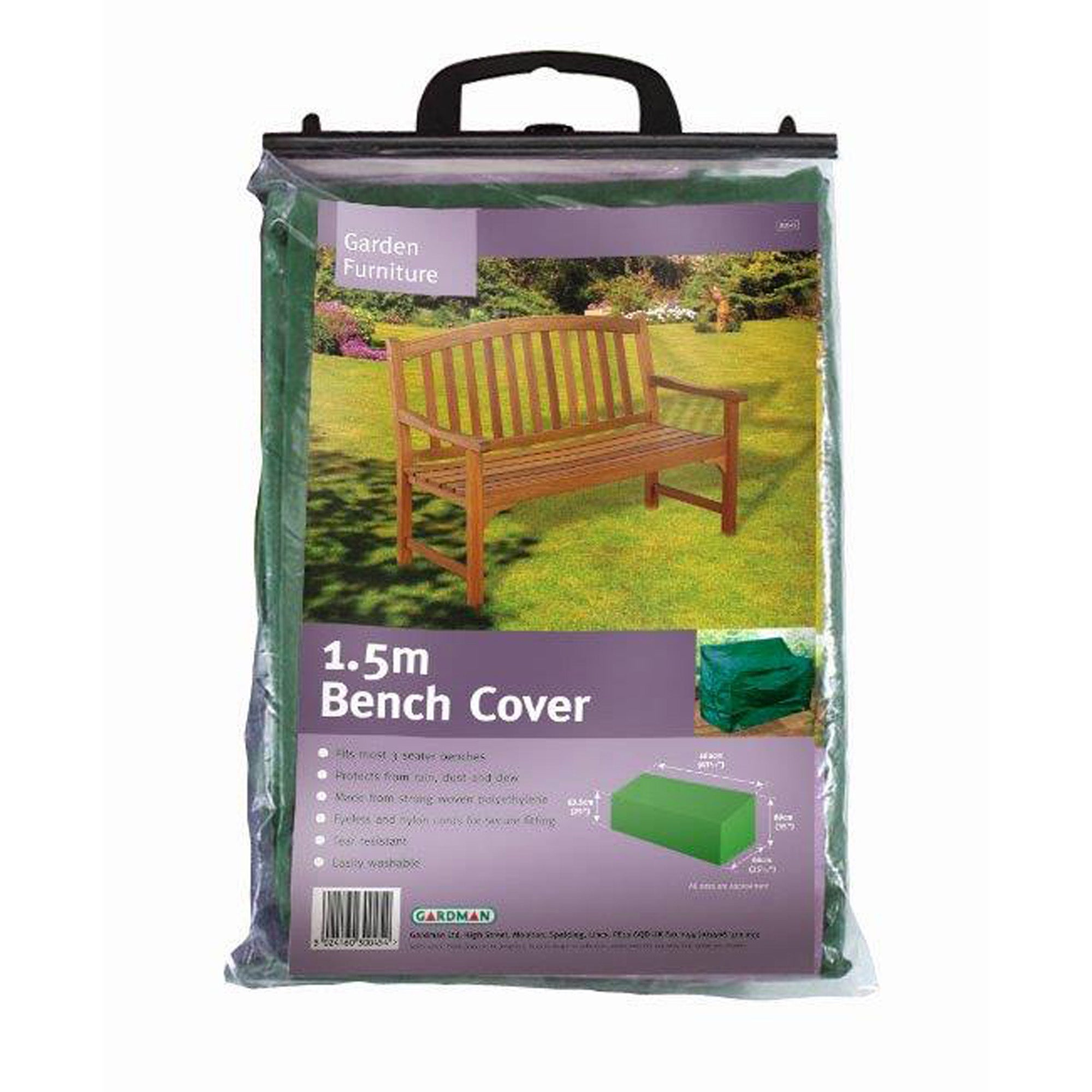 Photo of 3 seat bench cover green