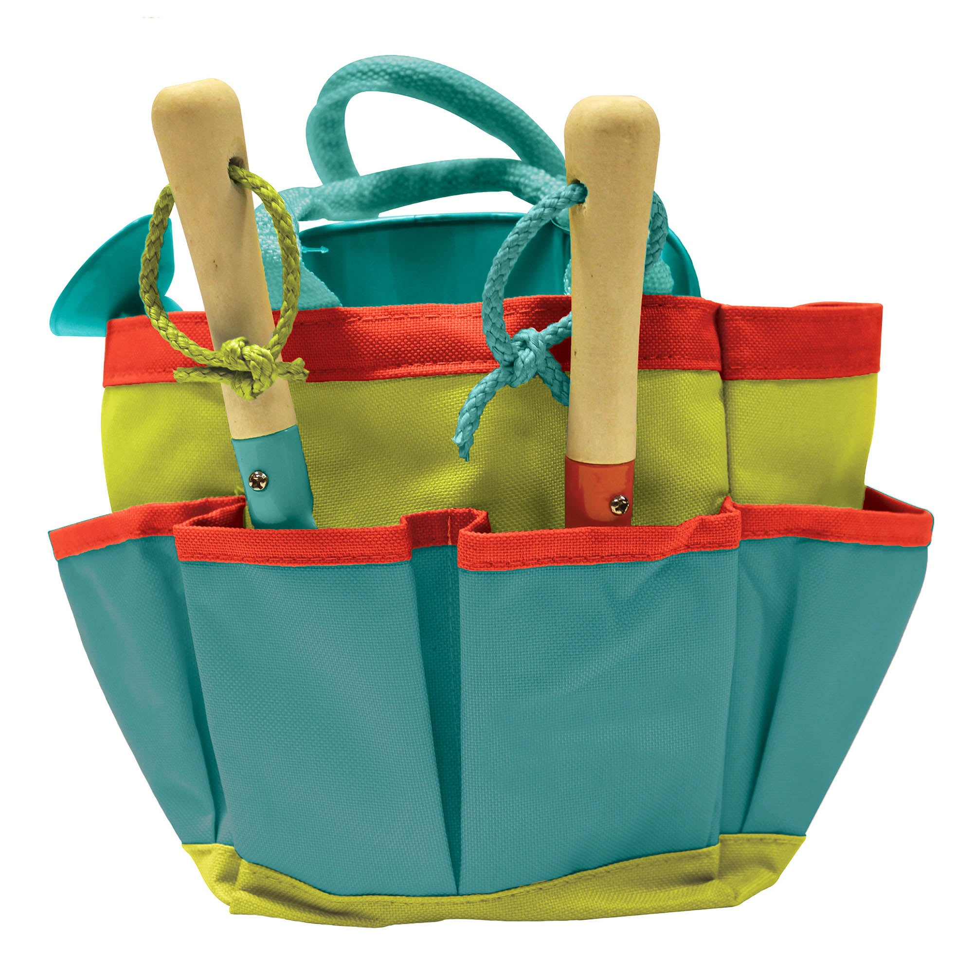 Photo of Kids garden tool bag set multi coloured