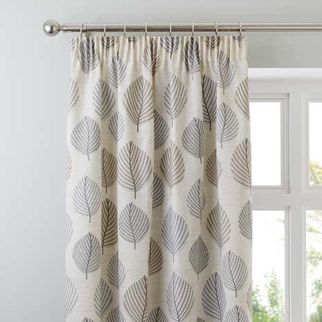 Regan Pebble Fully Lined Pencil Pleat Curtains