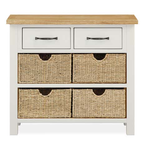 Amazing Sidmouth Cotton Console Table With Baskets